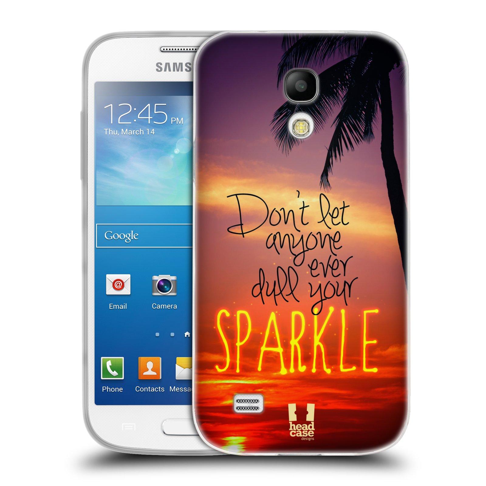 Silikonové pouzdro na mobil Samsung Galaxy S4 Mini HEAD CASE SPARKLE (Silikonový kryt či obal na mobilní telefon Samsung Galaxy S4 Mini GT-i9195 / i9190 (nepasuje na verzi Black Edition))