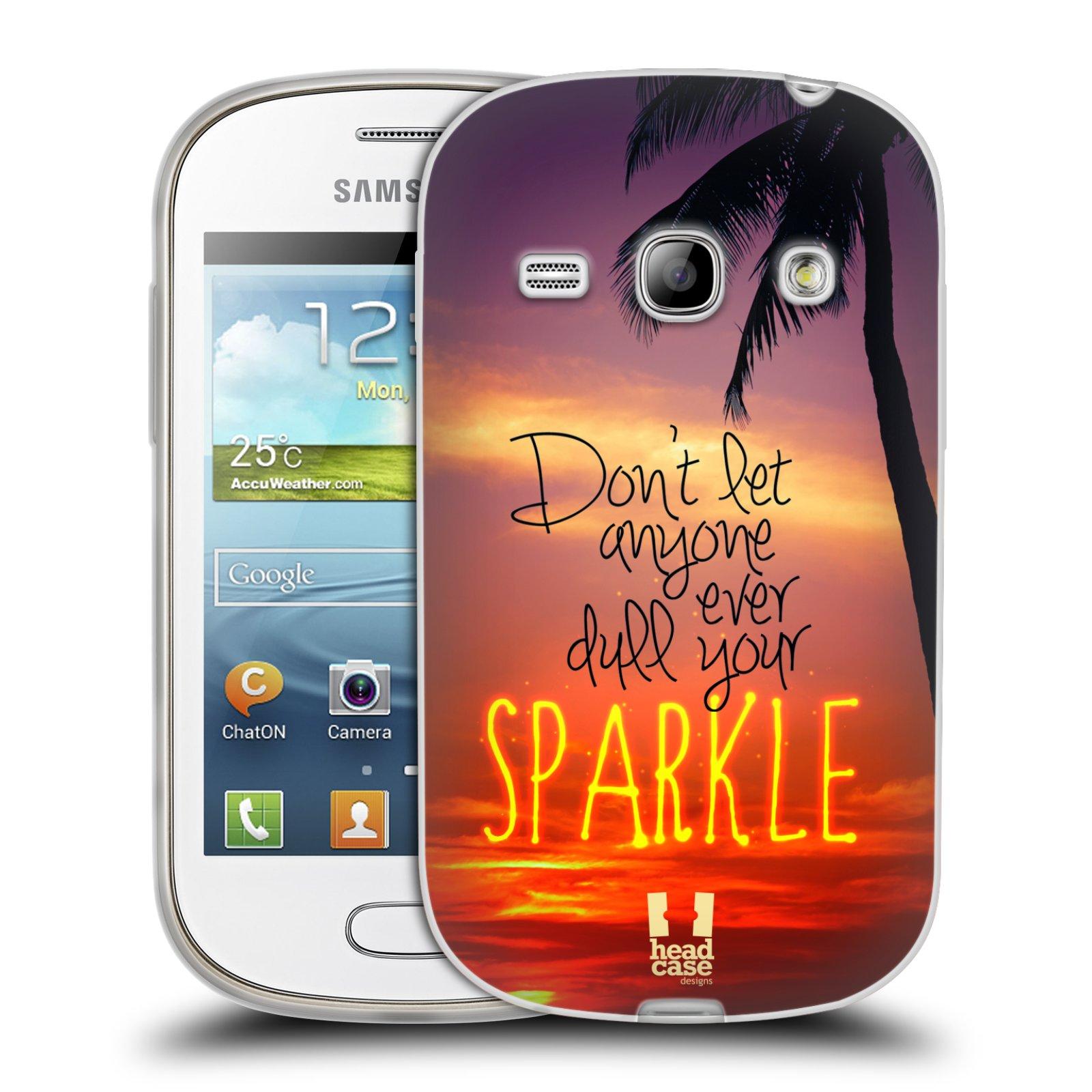 Silikonové pouzdro na mobil Samsung Galaxy Fame HEAD CASE SPARKLE (Silikonový kryt či obal na mobilní telefon Samsung Galaxy Fame GT-S6810)