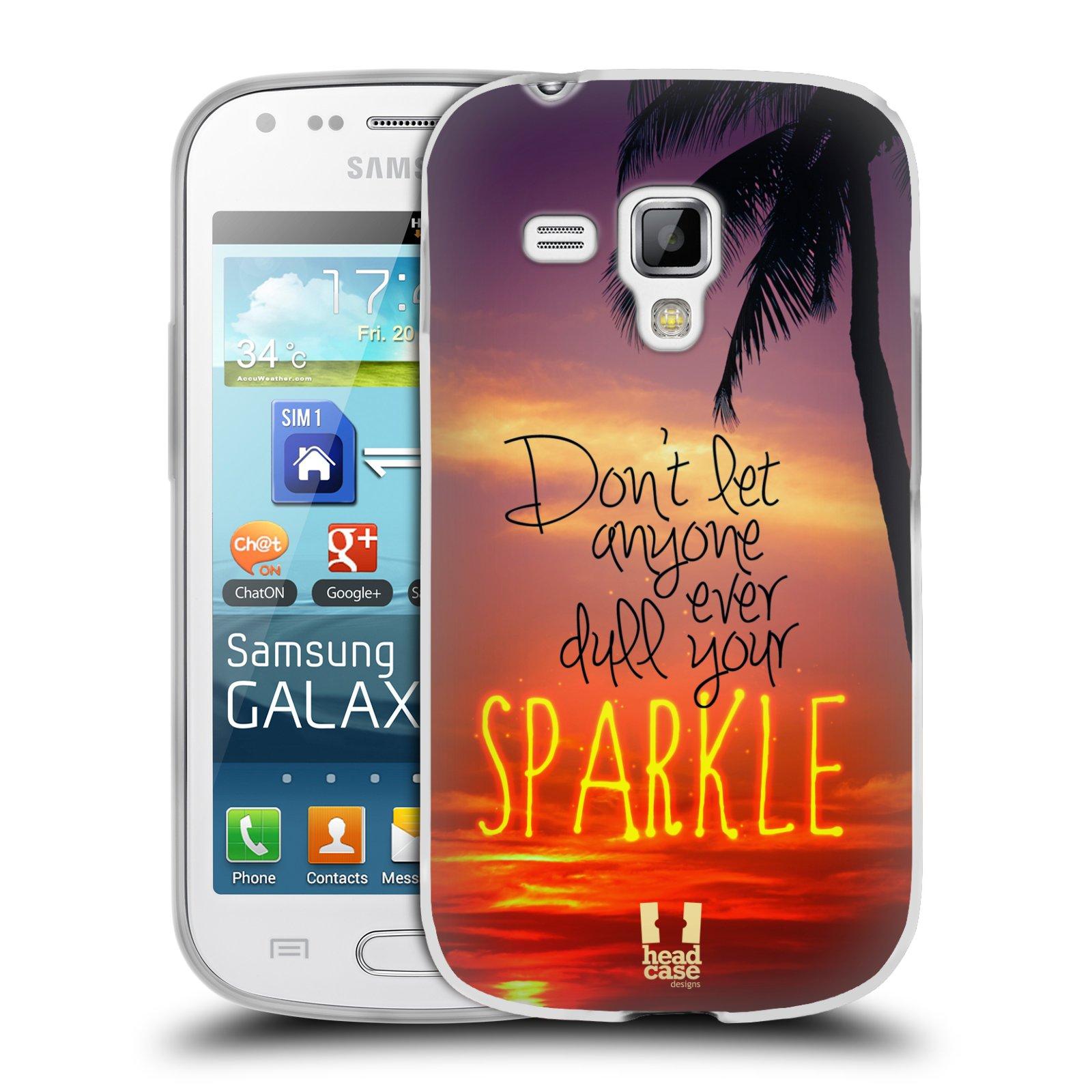 Silikonové pouzdro na mobil Samsung Galaxy S Duos 2 HEAD CASE SPARKLE (Silikonový kryt či obal na mobilní telefon Samsung Galaxy S Duos 2 GT-S7582)