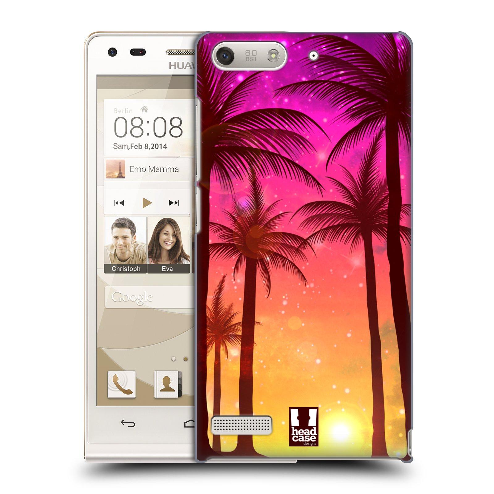 Plastové pouzdro na mobil Huawei Ascend G6 HEAD CASE PALMY RŮŽOVÉ (Kryt či obal na mobilní telefon Huawei Ascend G6 bez LTE)