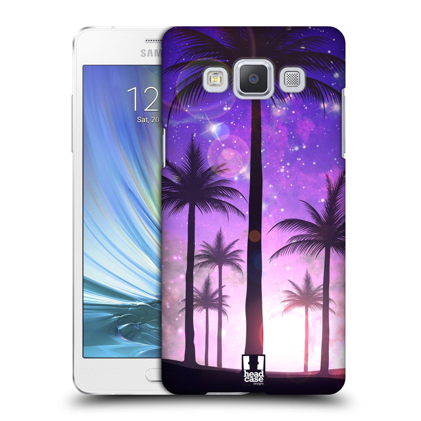 Plastové pouzdro na mobil Samsung Galaxy A5 HEAD CASE PALMY FIALOVÉ