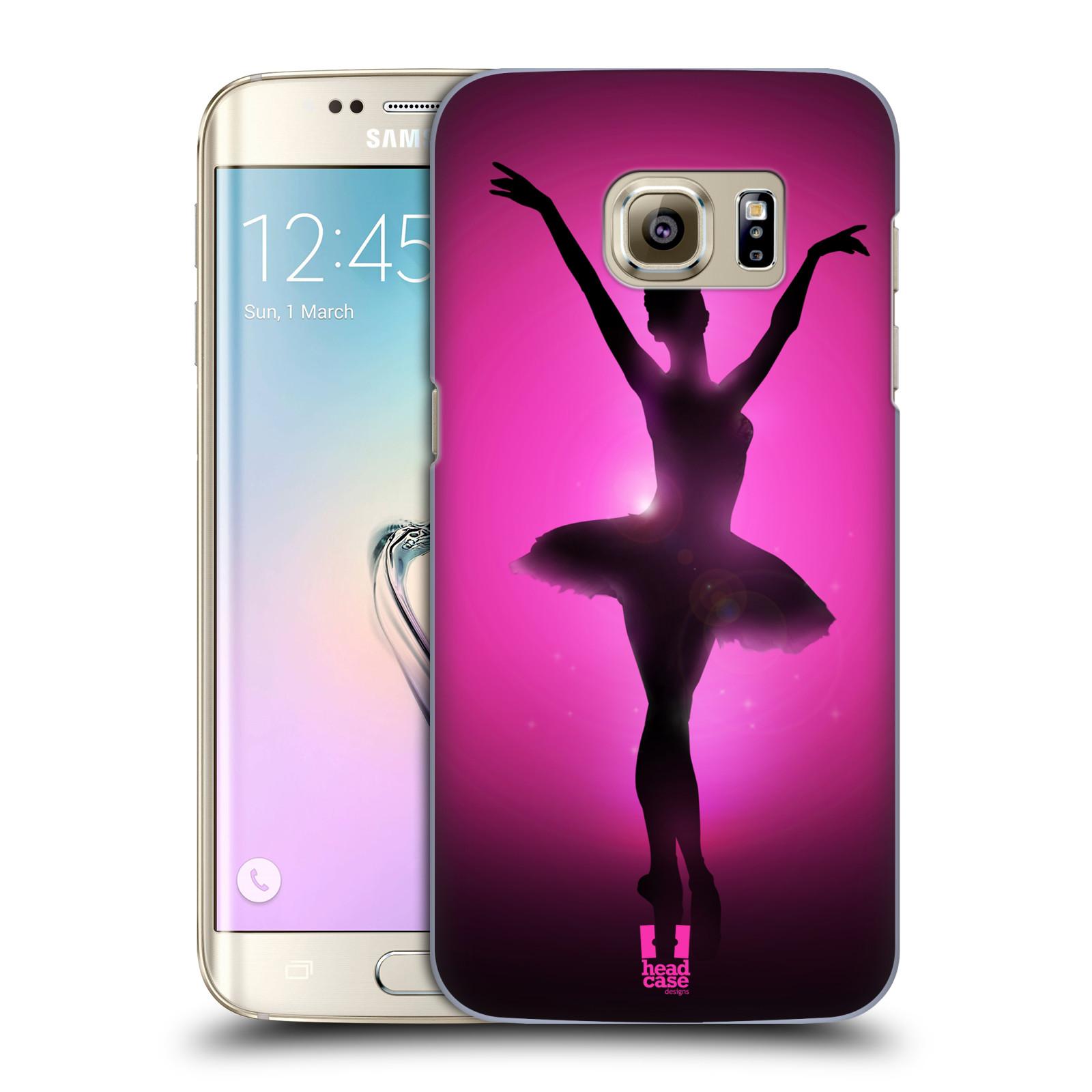 Plastové pouzdro na mobil Samsung Galaxy S7 Edge HEAD CASE BALERÍNA SILUETA (Kryt či obal na mobilní telefon Samsung Galaxy S7 Edge SM-G935F)