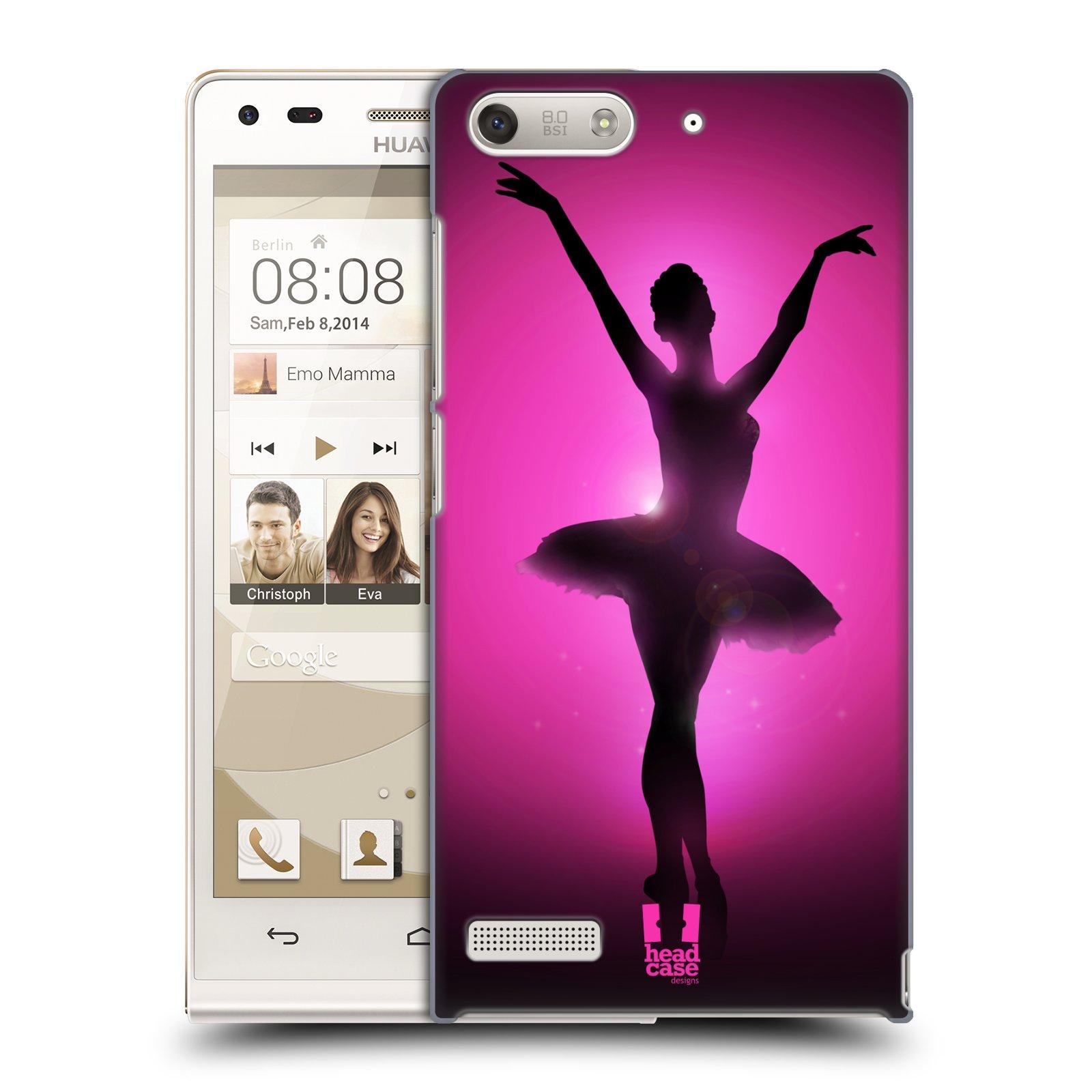 Plastové pouzdro na mobil Huawei Ascend G6 HEAD CASE BALERÍNA SILUETA (Kryt či obal na mobilní telefon Huawei Ascend G6 bez LTE)