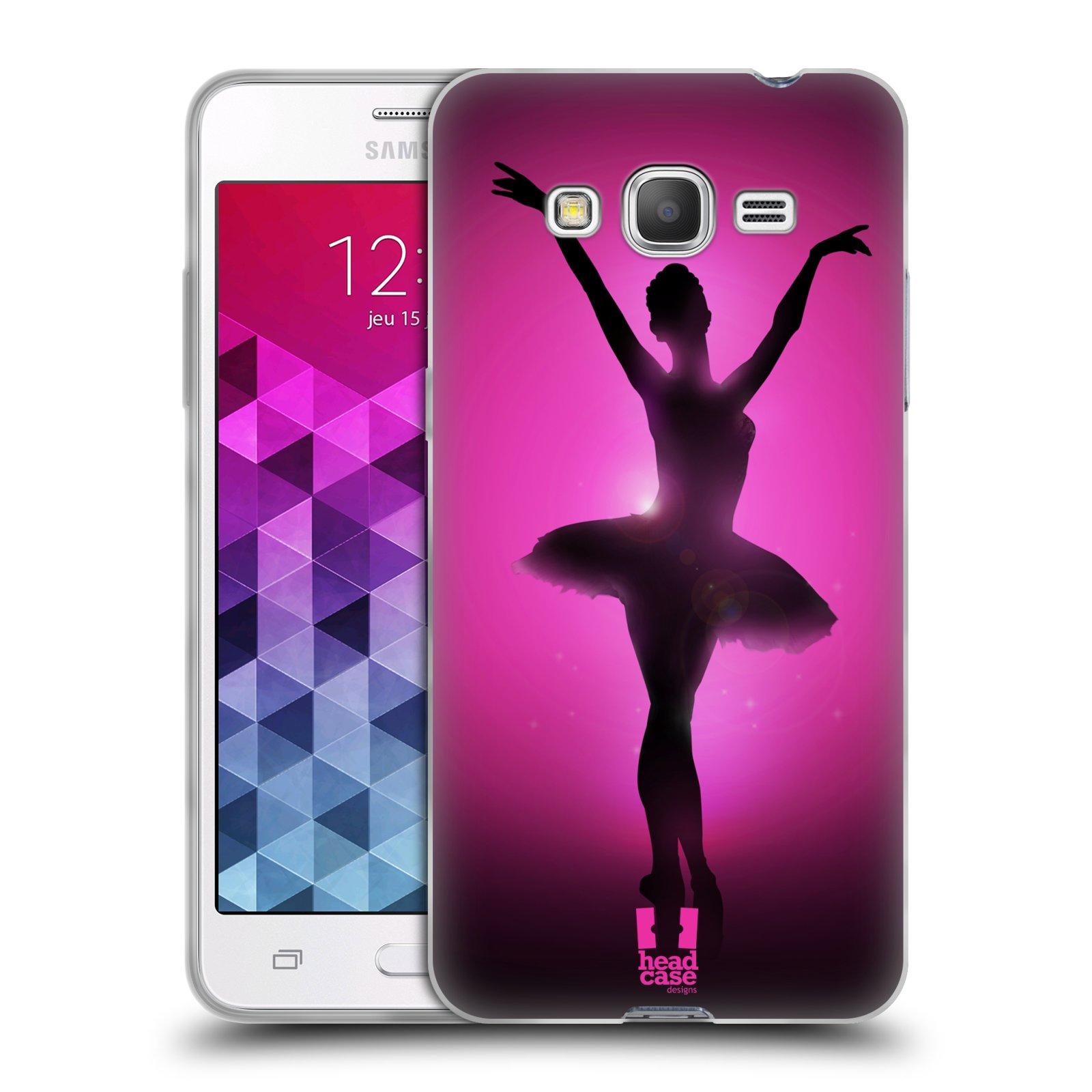 Silikonové pouzdro na mobil Samsung Galaxy Grand Prime VE HEAD CASE BALERÍNA SILUETA