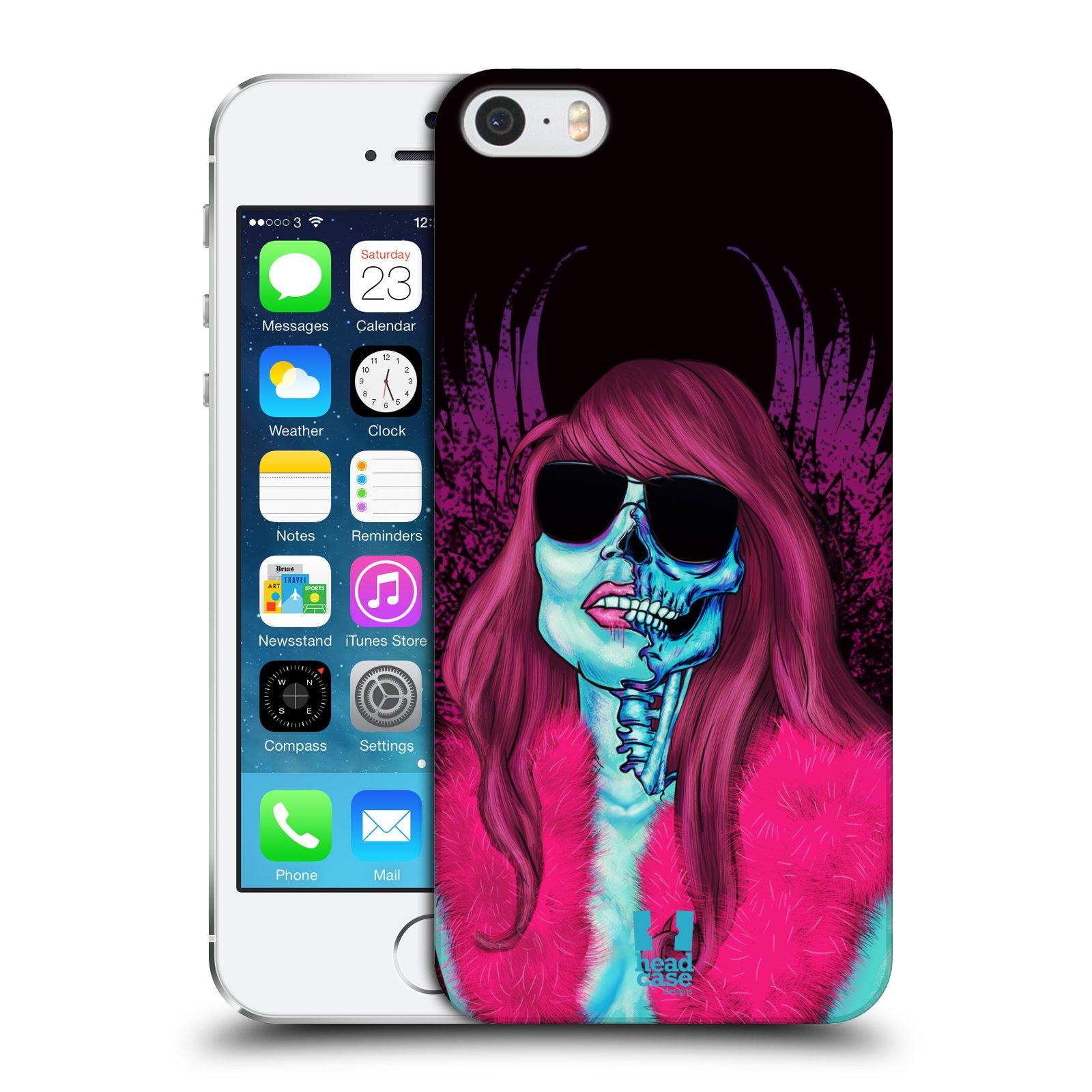 Plastové pouzdro na mobil Apple iPhone SE, 5 a 5S HEAD CASE LEBKA GROUPIE