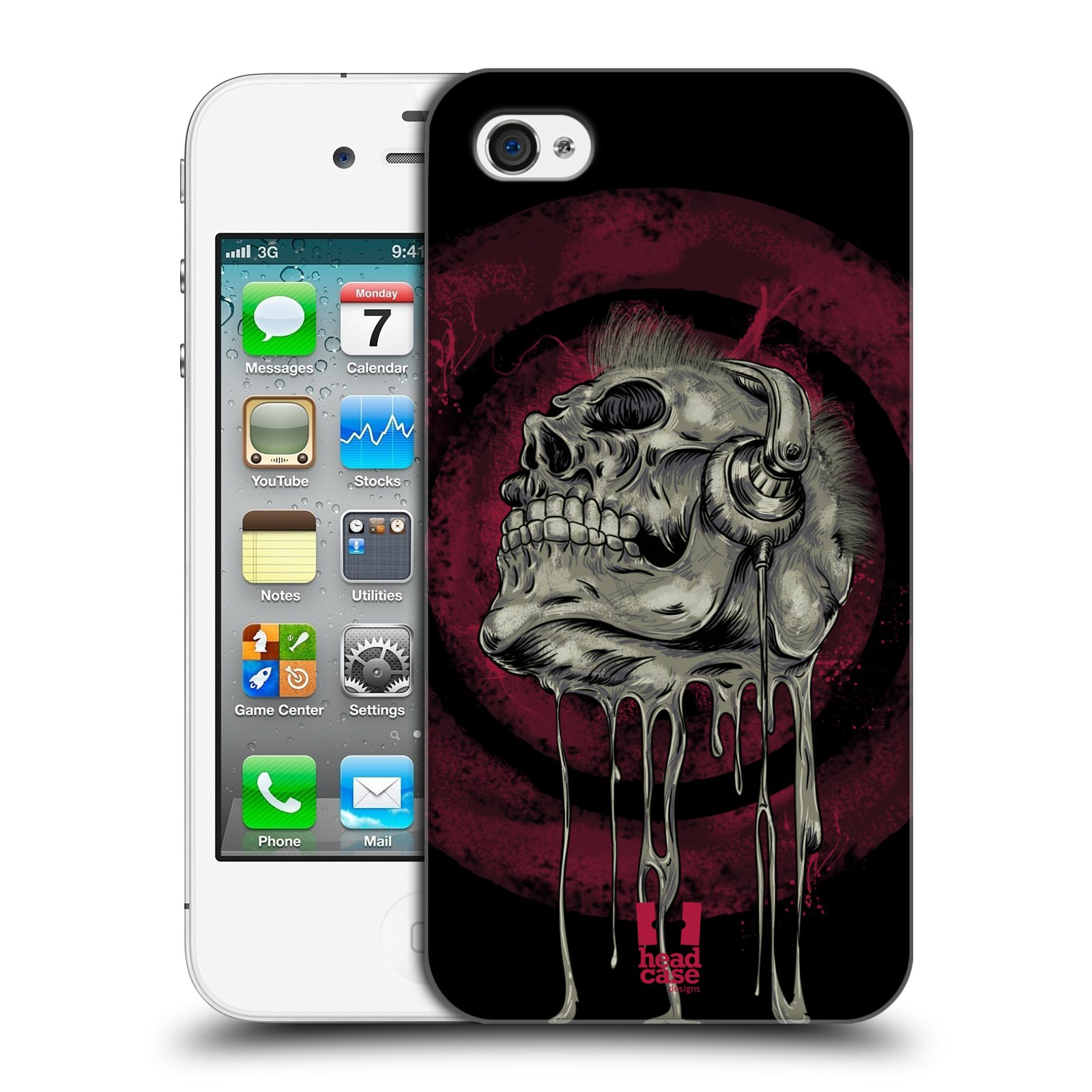 Plastové pouzdro na mobil Apple iPhone 4 a 4S HEAD CASE ROCKOVÁ LEBKA empty 20ec51f1b3f