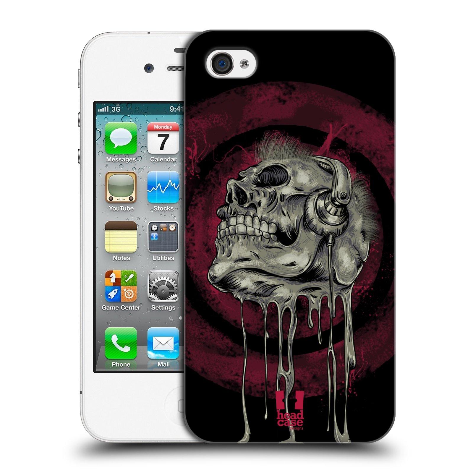 Plastové pouzdro na mobil Apple iPhone 4 a 4S HEAD CASE ROCKOVÁ LEBKA