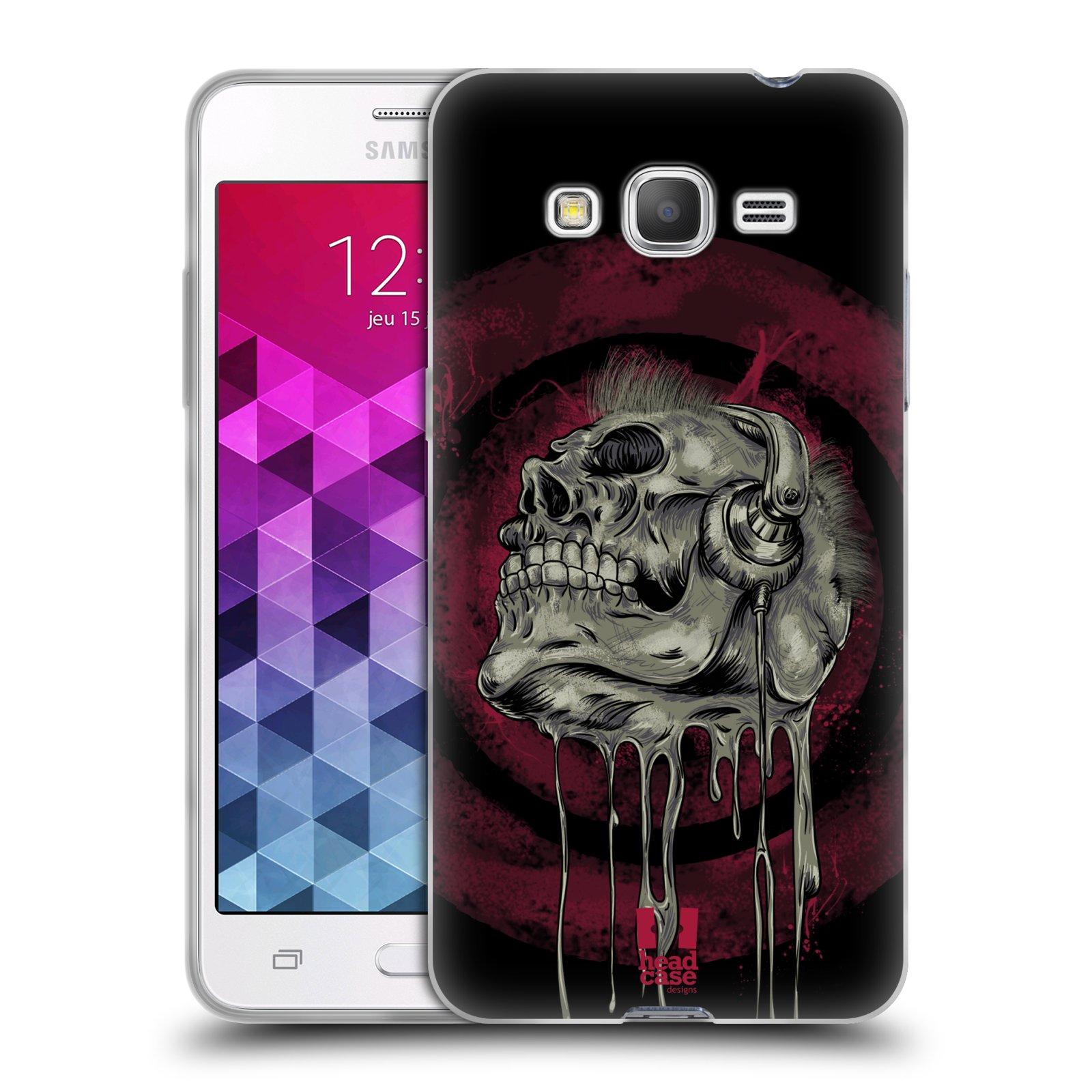Silikonové pouzdro na mobil Samsung Galaxy Grand Prime VE HEAD CASE ROCKOVÁ LEBKA