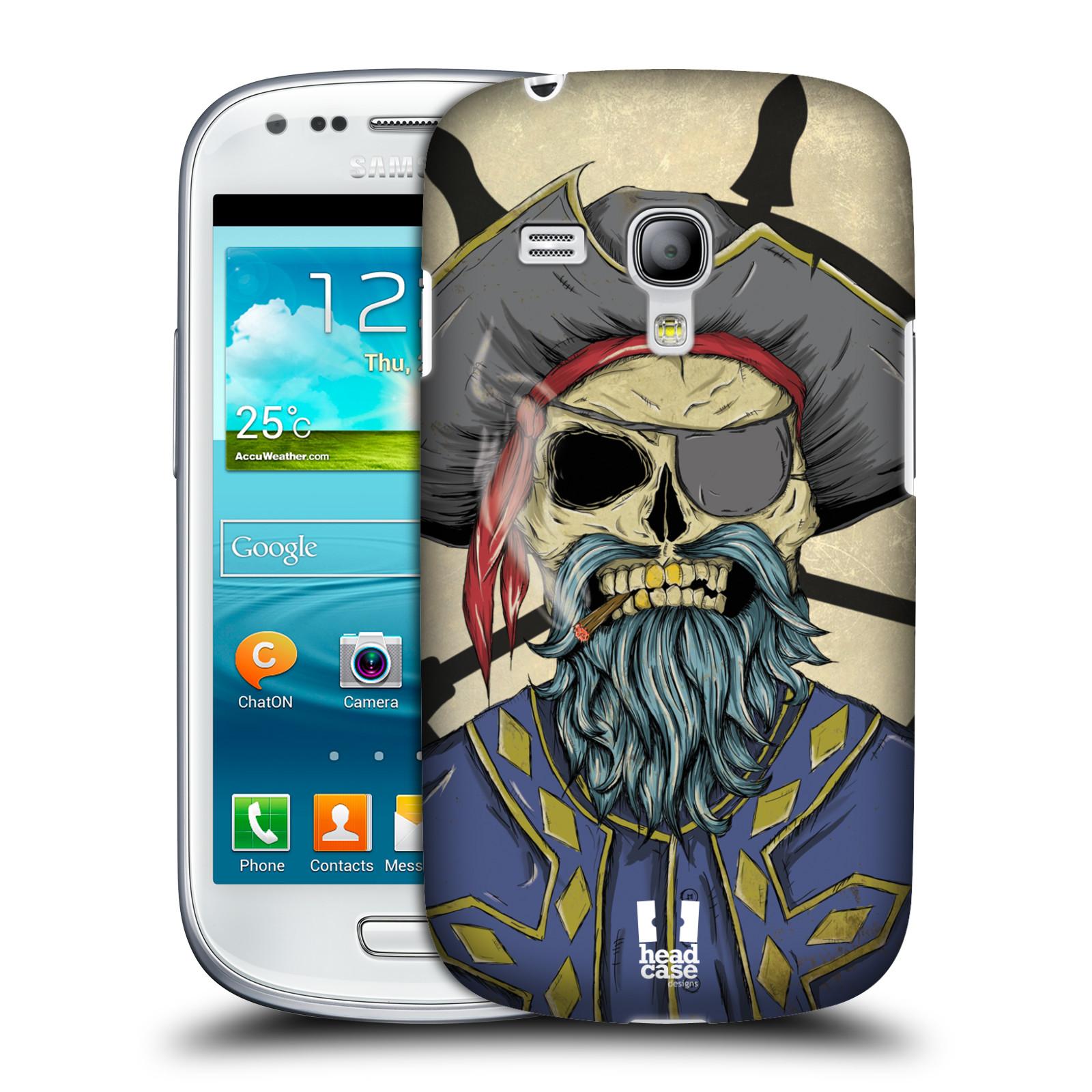 Silikonové pouzdro na mobil Samsung Galaxy S III Mini VE - Head Case - Pirát s cígem (Plastový kryt či obal na mobilní telefon s motivem zombie piráta pro Samsung Galaxy S3 Mini VE GT-i8200)