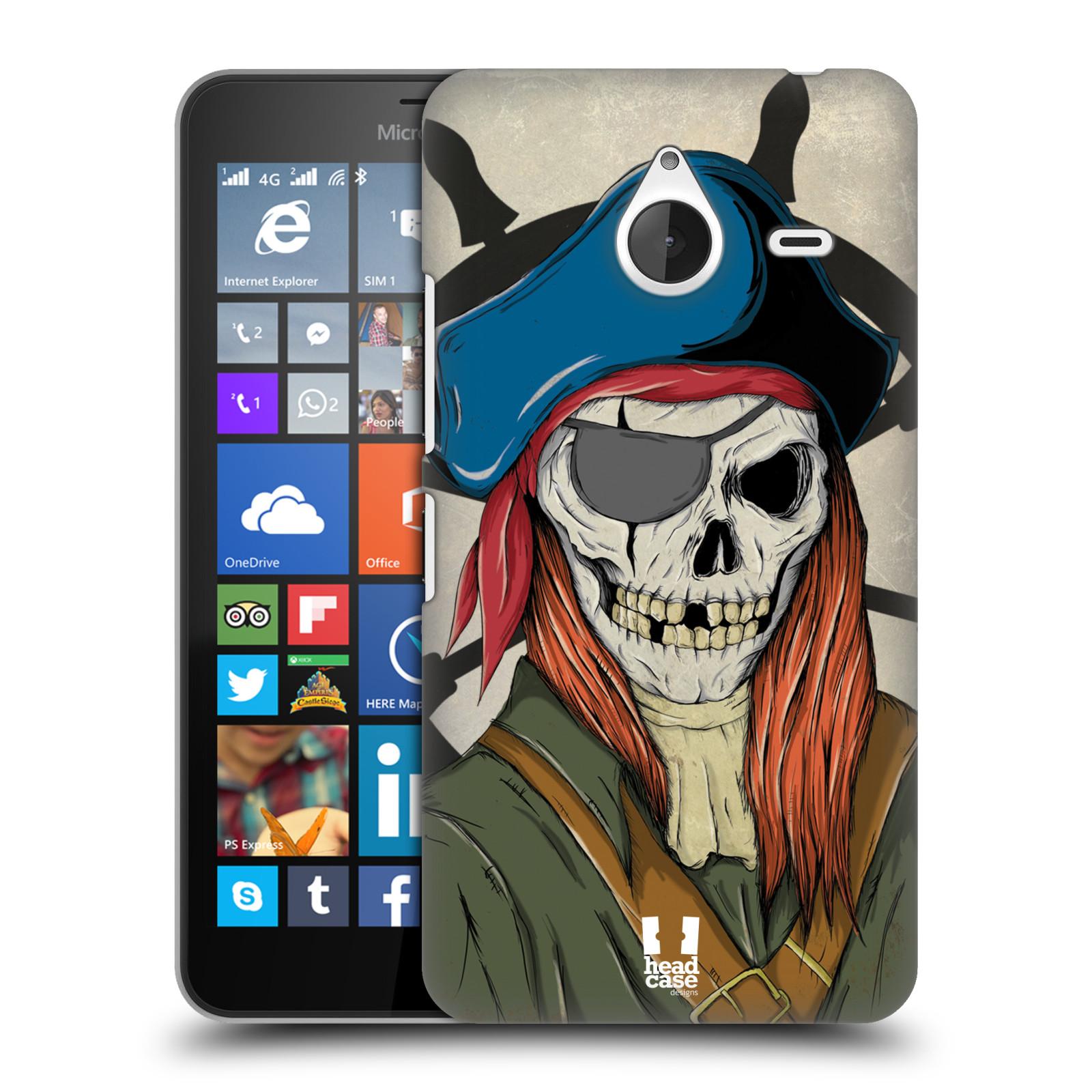 Plastové pouzdro na mobil Microsoft Lumia 640 XL - Head Case - Pirát zrzek (Plastový kryt či obal na mobilní telefon s motivem zombie piráta pro Microsoft Lumia 640 XL)