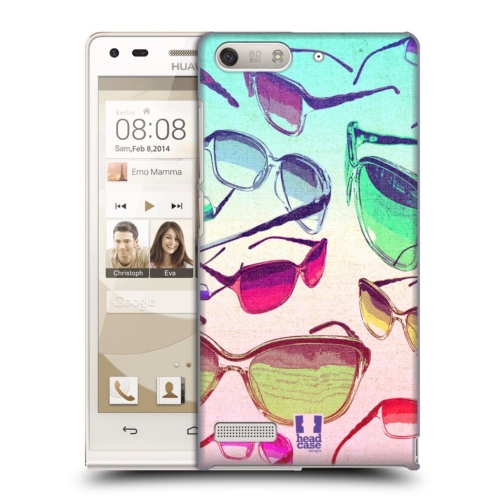 Plastové pouzdro na mobil Huawei Ascend G6 HEAD CASE SLUNEČNÍ BRÝLE (Kryt či obal na mobilní telefon Huawei Ascend G6 bez LTE)