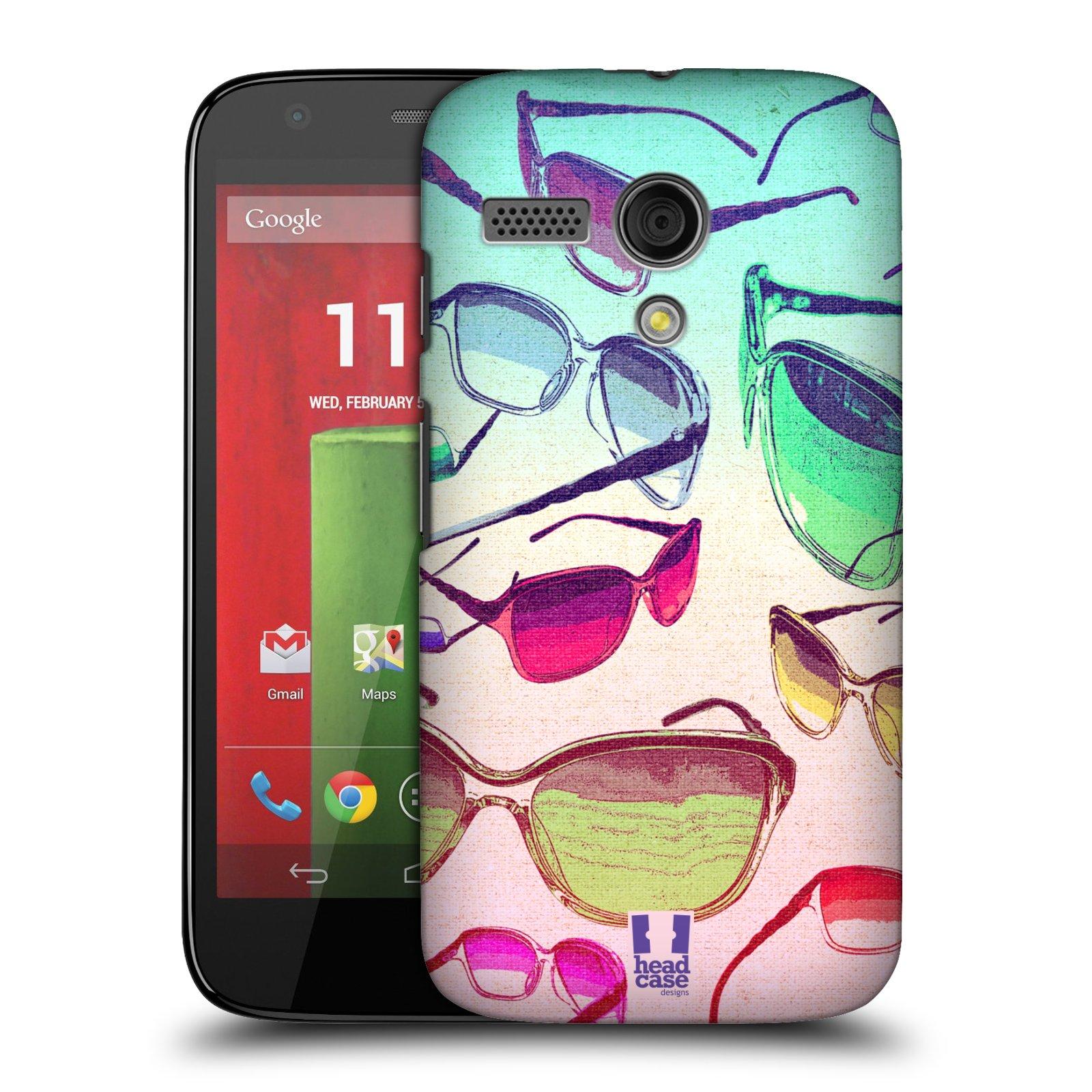 Plastové pouzdro na mobil Motorola Moto G HEAD CASE SLUNEČNÍ BRÝLE (Kryt či obal na mobilní telefon Motorola Moto G)