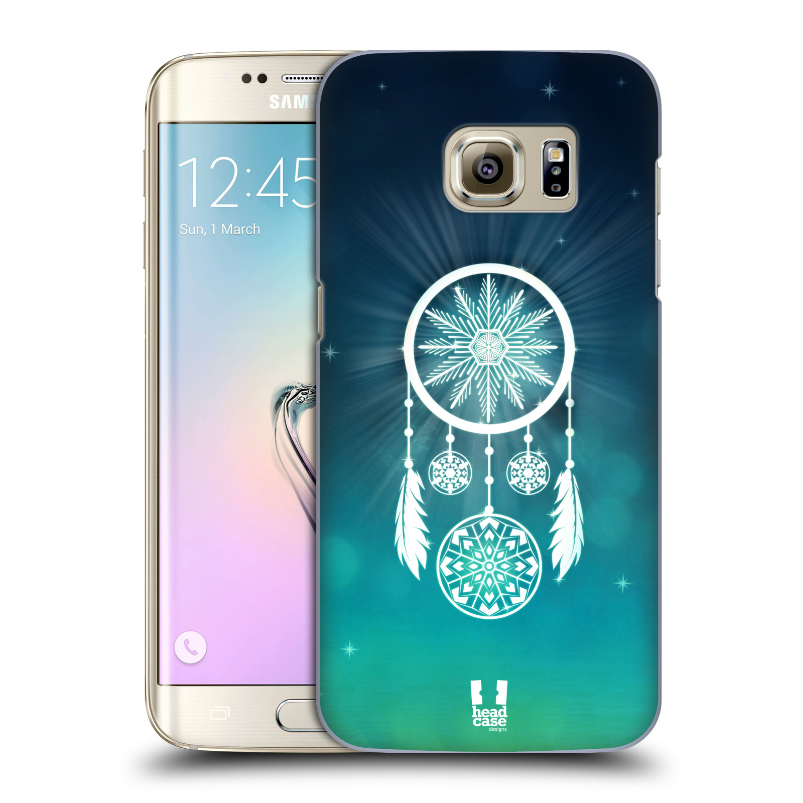 Plastové pouzdro na mobil Samsung Galaxy S7 Edge HEAD CASE Lapač vločky (Kryt či obal na mobilní telefon Samsung Galaxy S7 Edge SM-G935F)