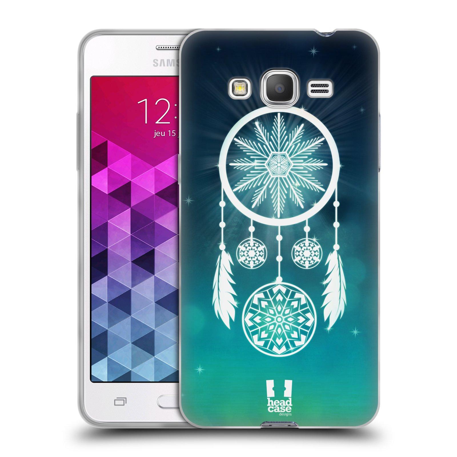 Silikonové pouzdro na mobil Samsung Galaxy Grand Prime VE HEAD CASE Lapač vločky