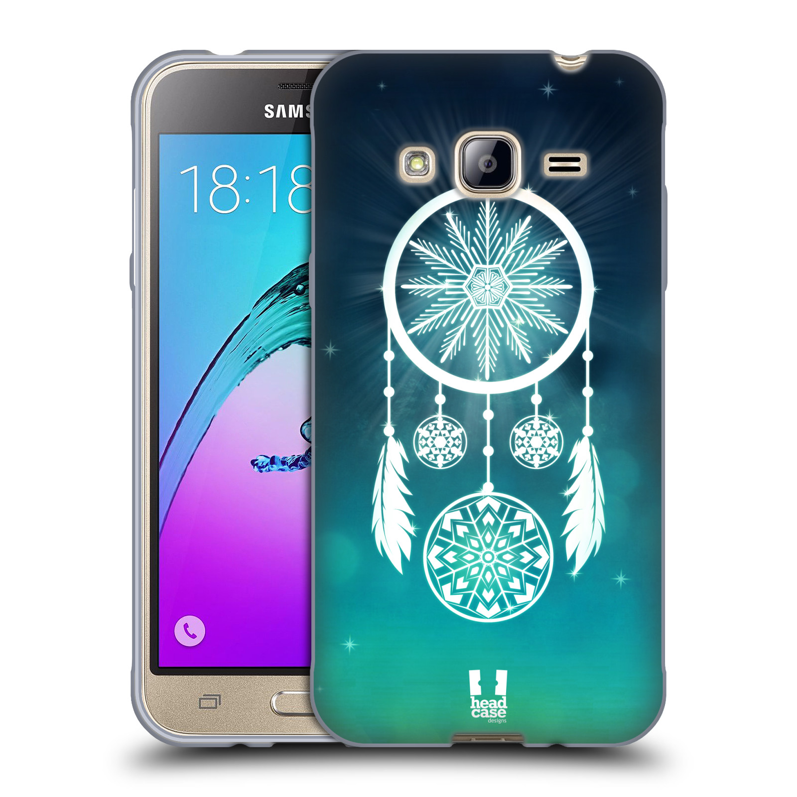 Silikonové pouzdro na mobil Samsung Galaxy J3 (2016) HEAD CASE Lapač vločky 44a906ad7fa