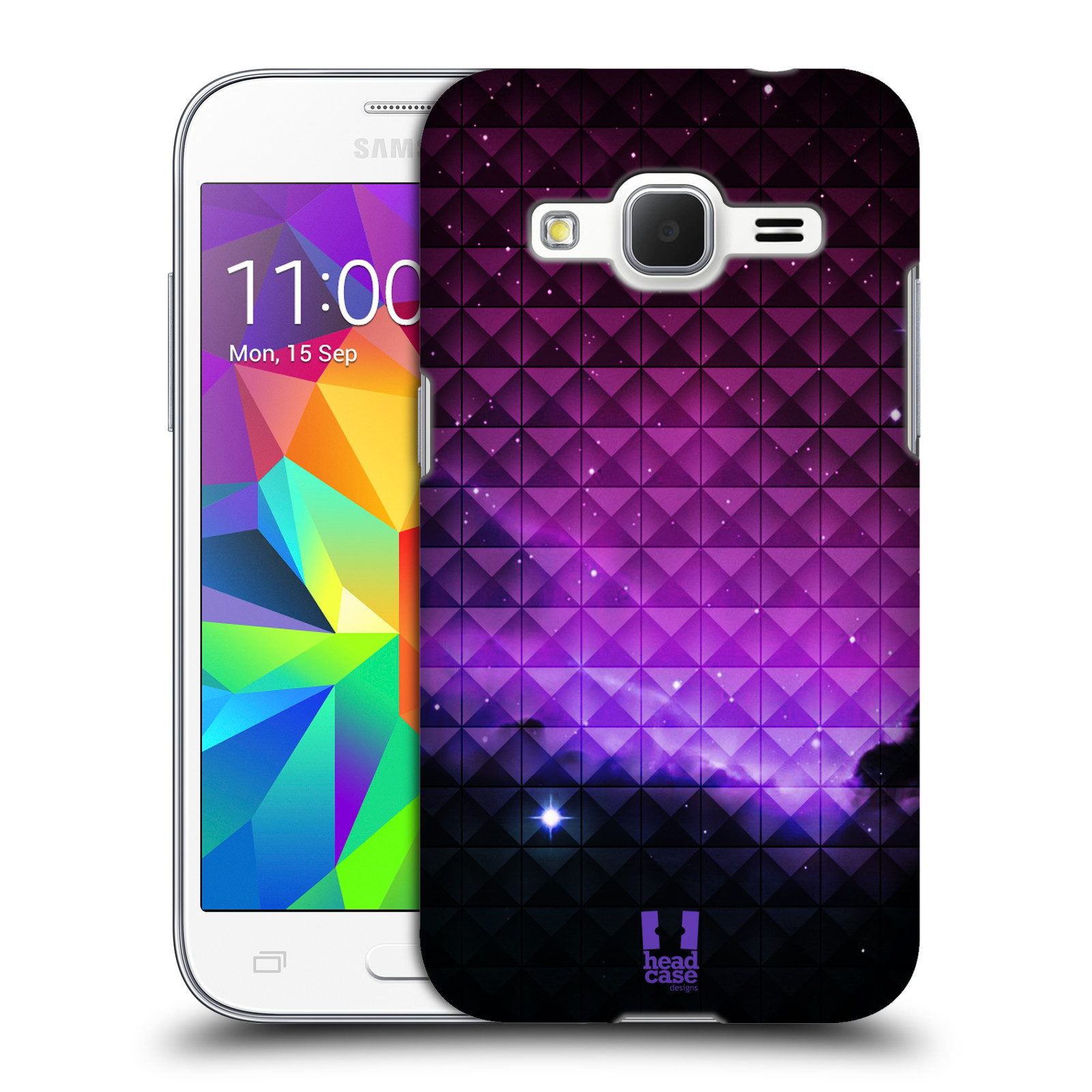 Plastové pouzdro na mobil Samsung Galaxy Core Prime VE HEAD CASE PURPLE HAZE (Kryt či obal na mobilní telefon Samsung Galaxy Core Prime LTE VE SM-G361F)