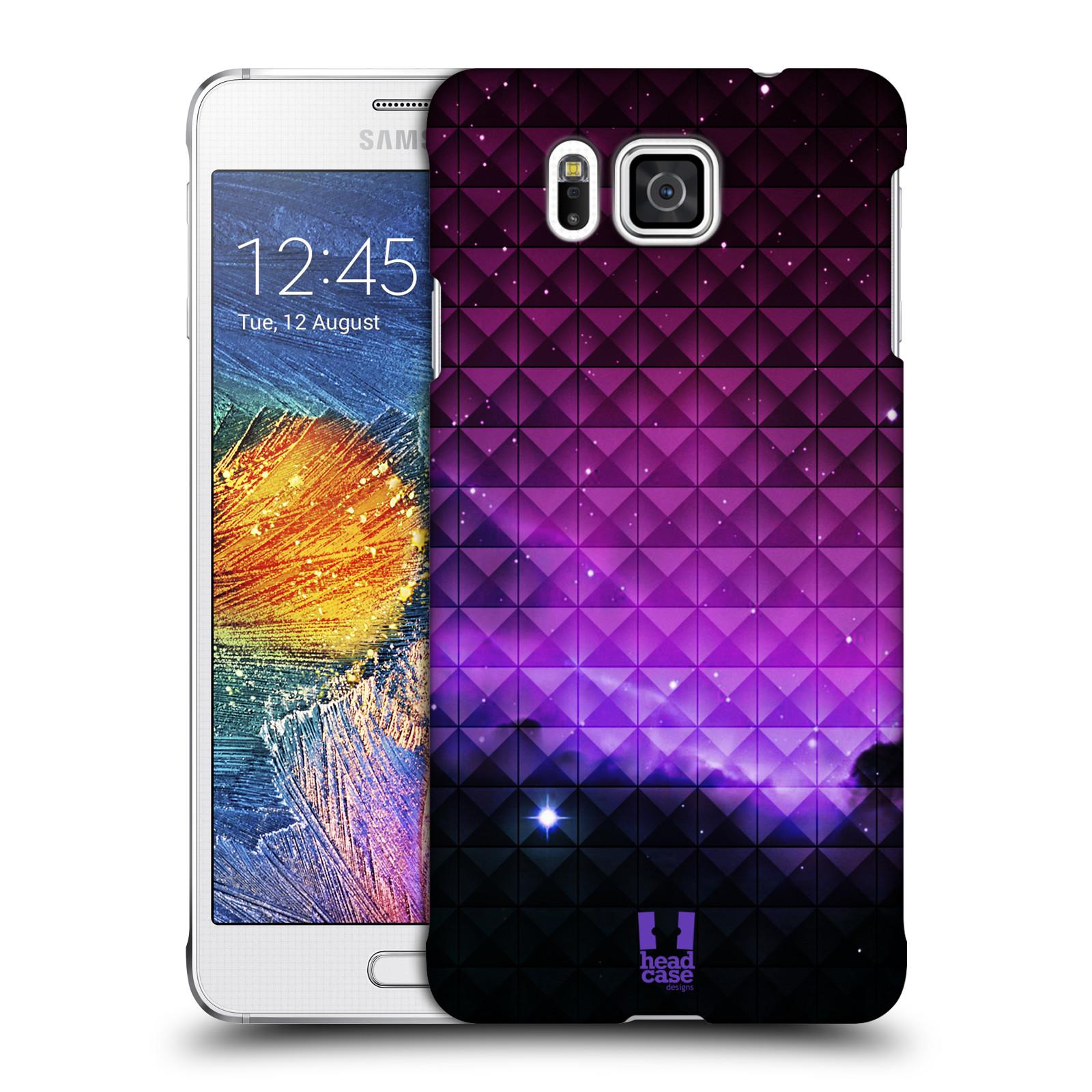 Plastové pouzdro na mobil Samsung Galaxy Alpha HEAD CASE PURPLE HAZE (Kryt či obal na mobilní telefon Samsung Galaxy Alpha SM-G850)