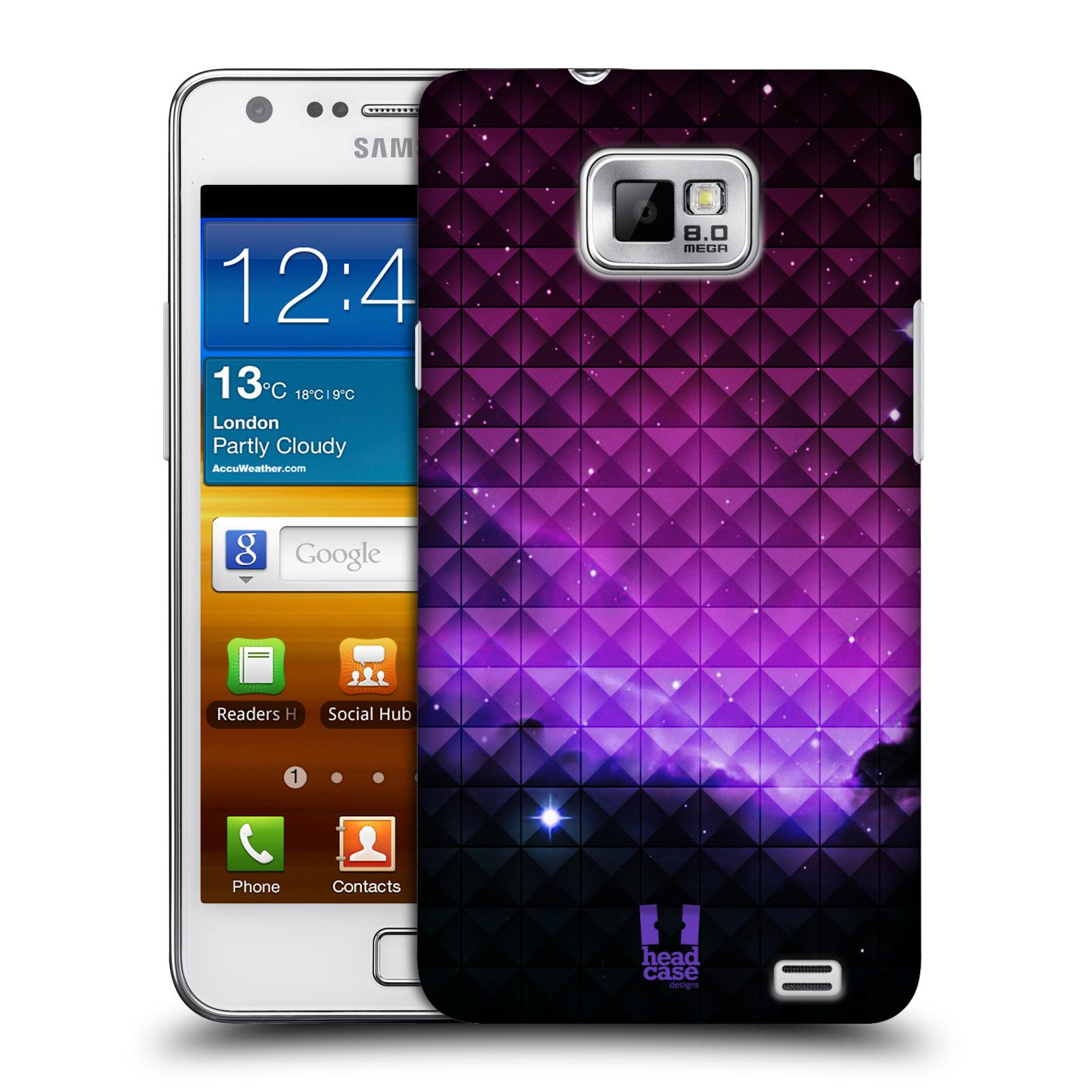 Plastové pouzdro na mobil Samsung Galaxy S II HEAD CASE PURPLE HAZE (Kryt či obal na mobilní telefon Samsung Galaxy S II GT-i9100)