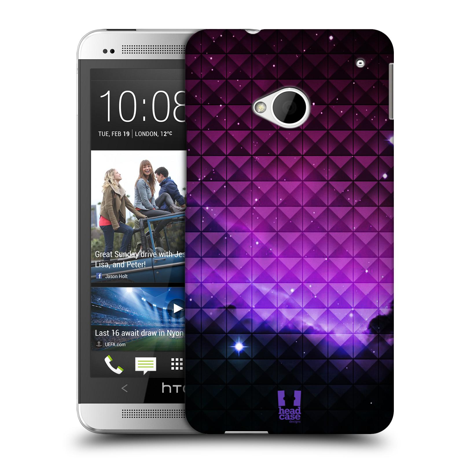 Plastové pouzdro na mobil HTC ONE M7 HEAD CASE PURPLE HAZE (Kryt či obal na mobilní telefon HTC ONE M7)