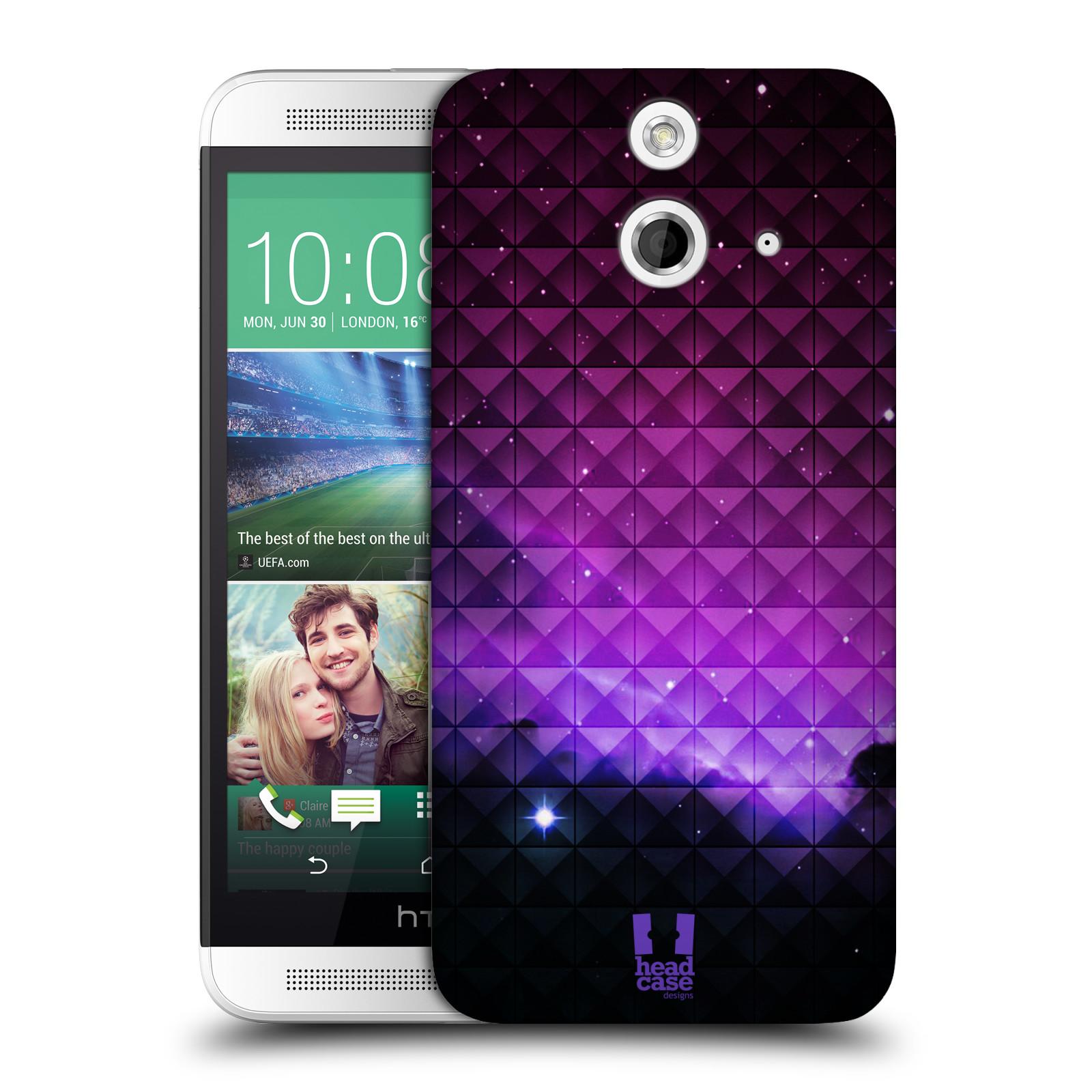 Plastové pouzdro na mobil HTC ONE E8 HEAD CASE PURPLE HAZE (Kryt či obal na mobilní telefon HTC ONE E8)