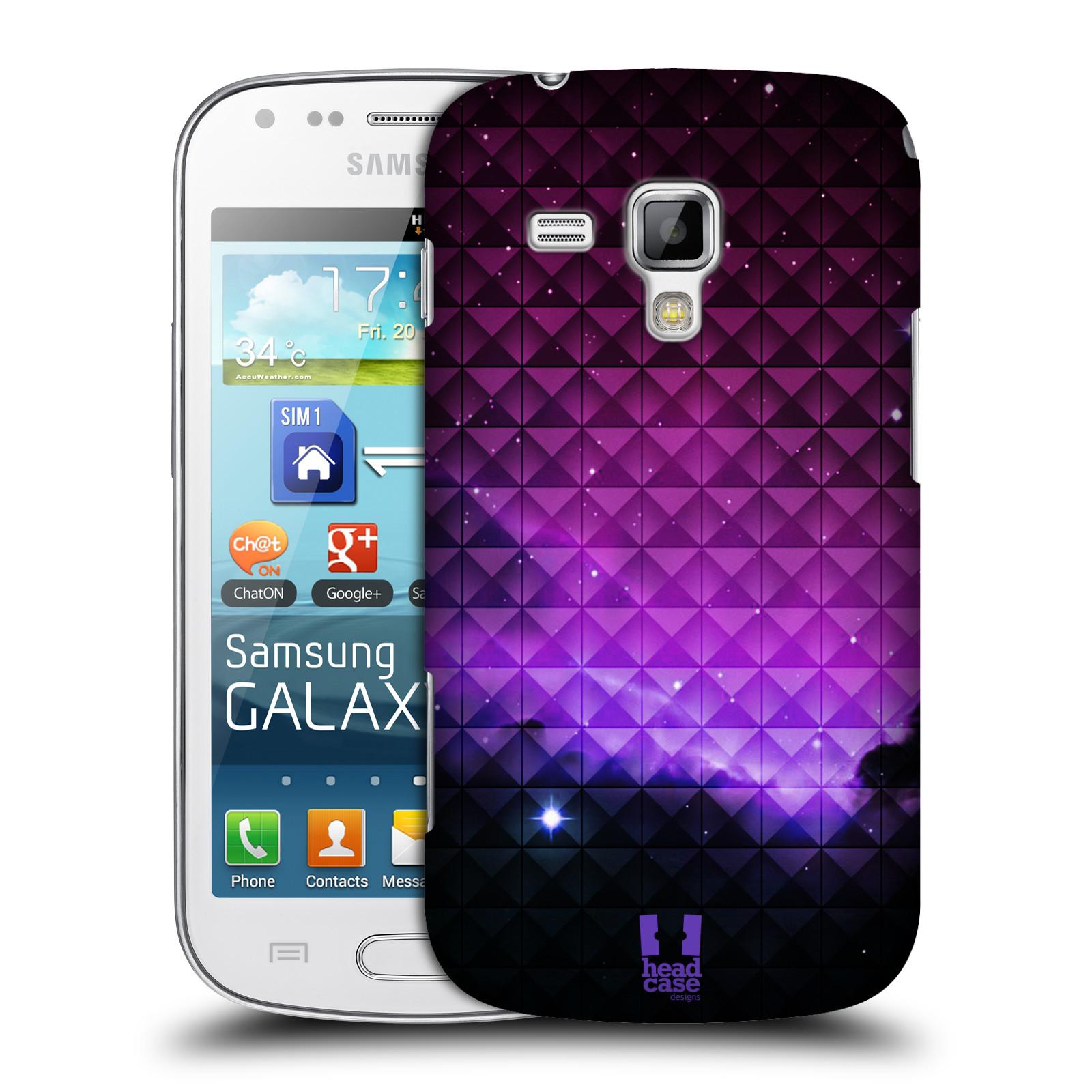 Plastové pouzdro na mobil Samsung Galaxy S Duos HEAD CASE PURPLE HAZE (Kryt či obal na mobilní telefon Samsung Galaxy S Duos GT-S7562)