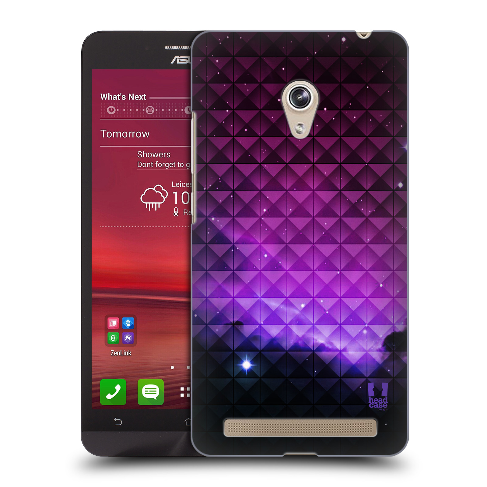 Plastové pouzdro na mobil Asus Zenfone 6 HEAD CASE PURPLE HAZE (Kryt či obal na mobilní telefon Asus Zenfone 6 A600CG / A601CG)