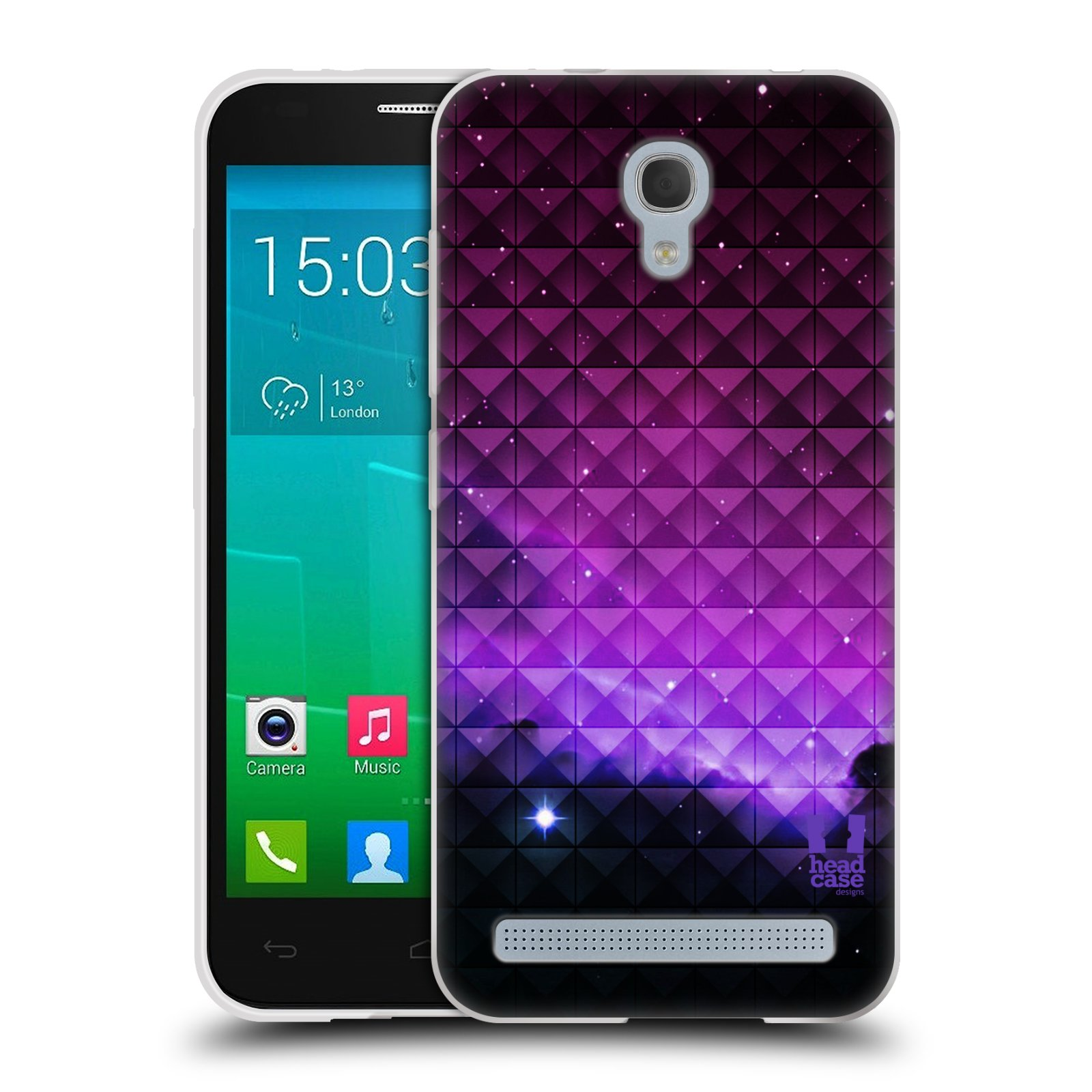 Silikonové pouzdro na mobil Alcatel One Touch Idol 2 Mini S 6036Y HEAD CASE PURPLE HAZE (Silikonový kryt či obal na mobilní telefon Alcatel Idol 2 Mini S OT-6036Y)