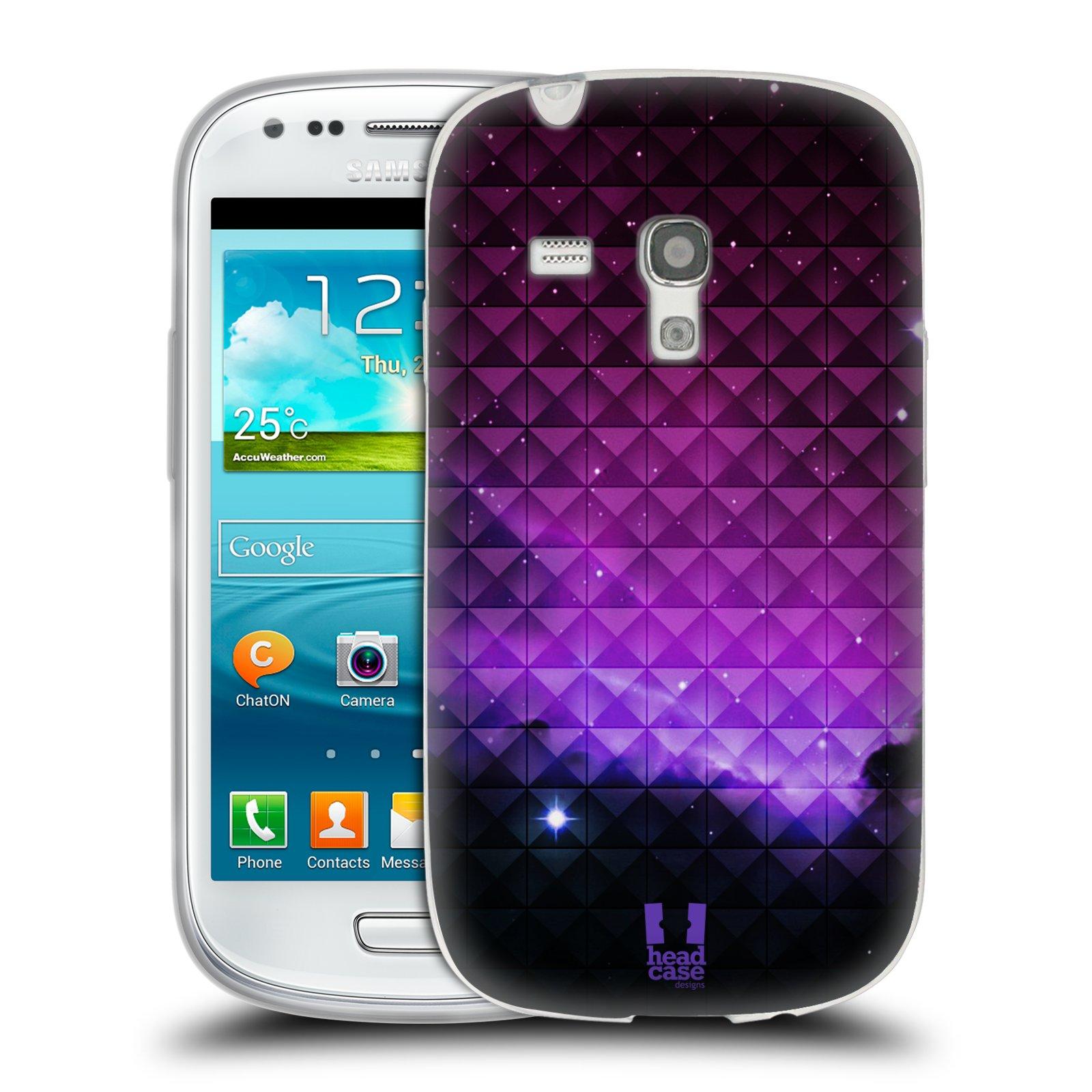Silikonové pouzdro na mobil Samsung Galaxy S III Mini HEAD CASE PURPLE HAZE (Silikonový kryt či obal na mobilní telefon Samsung Galaxy S III Mini GT-i8190)