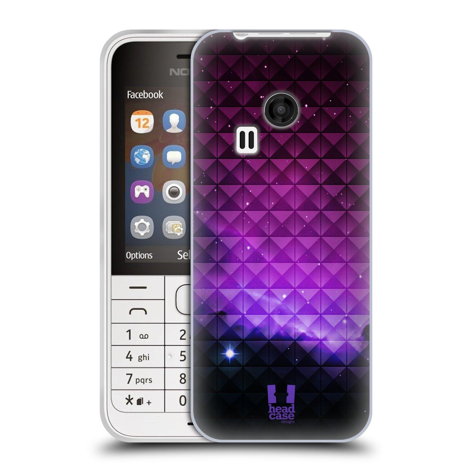 Silikonové pouzdro na mobil Nokia 220 HEAD CASE PURPLE HAZE (Silikonový kryt či obal na mobilní telefon Nokia 220 a 220 Dual SIM)