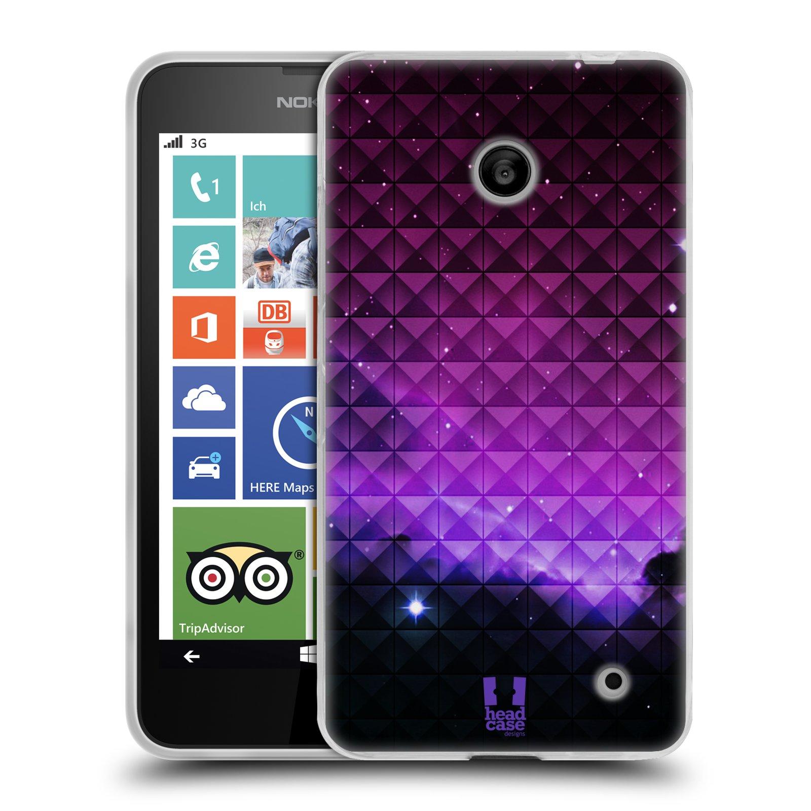 Silikonové pouzdro na mobil Nokia Lumia 630 HEAD CASE PURPLE HAZE (Silikonový kryt či obal na mobilní telefon Nokia Lumia 630 a Nokia Lumia 630 Dual SIM)