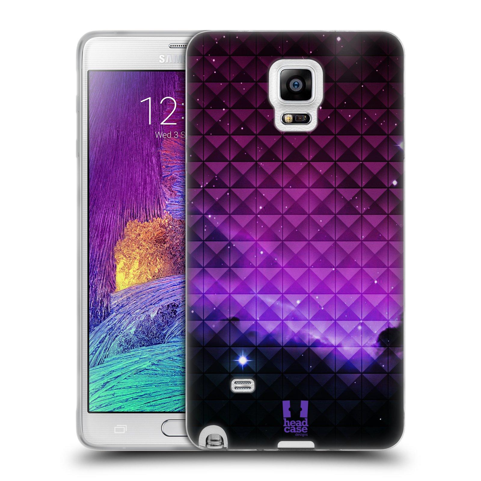 Silikonové pouzdro na mobil Samsung Galaxy Note 4 HEAD CASE PURPLE HAZE (Silikonový kryt či obal na mobilní telefon Samsung Galaxy Note 4 SM-N910F)