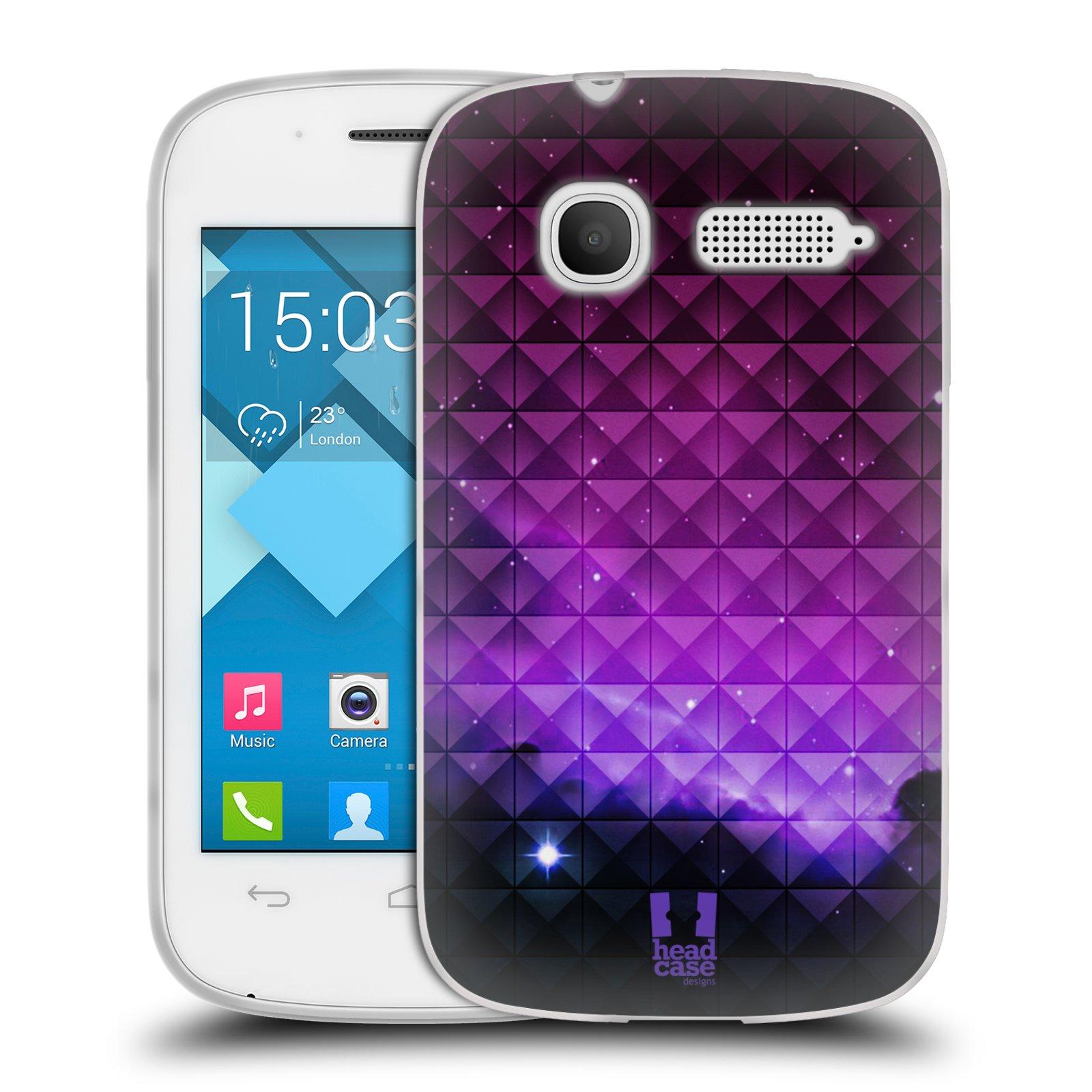 Silikonové pouzdro na mobil Alcatel One Touch Pop C1 HEAD CASE PURPLE HAZE (Silikonový kryt či obal na mobilní telefon Alcatel OT-4015D POP C1)