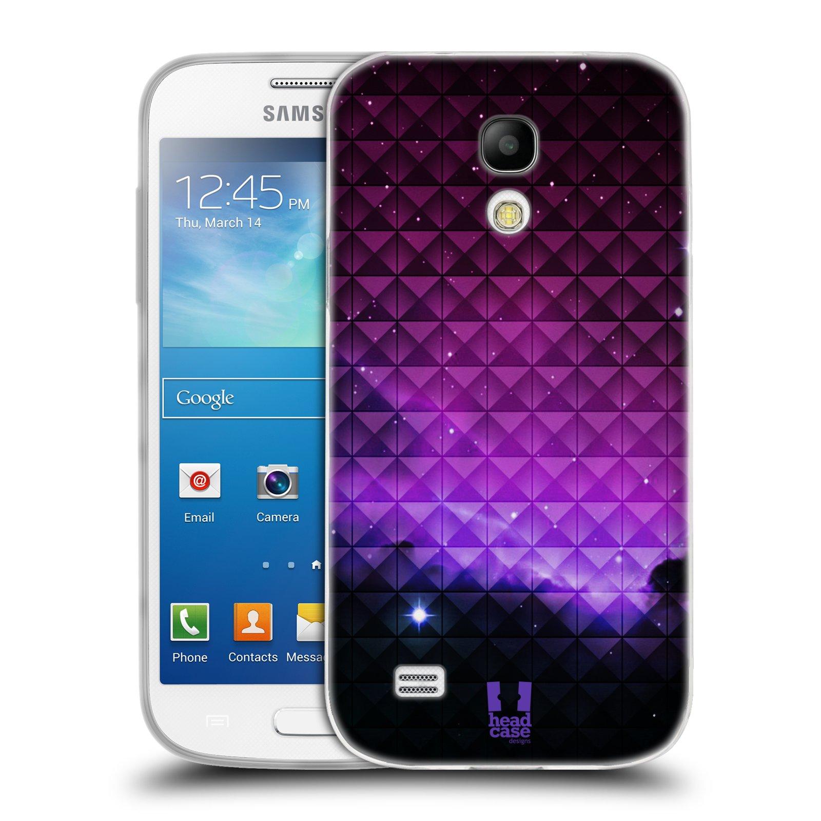 Silikonové pouzdro na mobil Samsung Galaxy S4 Mini HEAD CASE PURPLE HAZE (Silikonový kryt či obal na mobilní telefon Samsung Galaxy S4 Mini GT-i9195 / i9190 (nepasuje na verzi Black Edition))