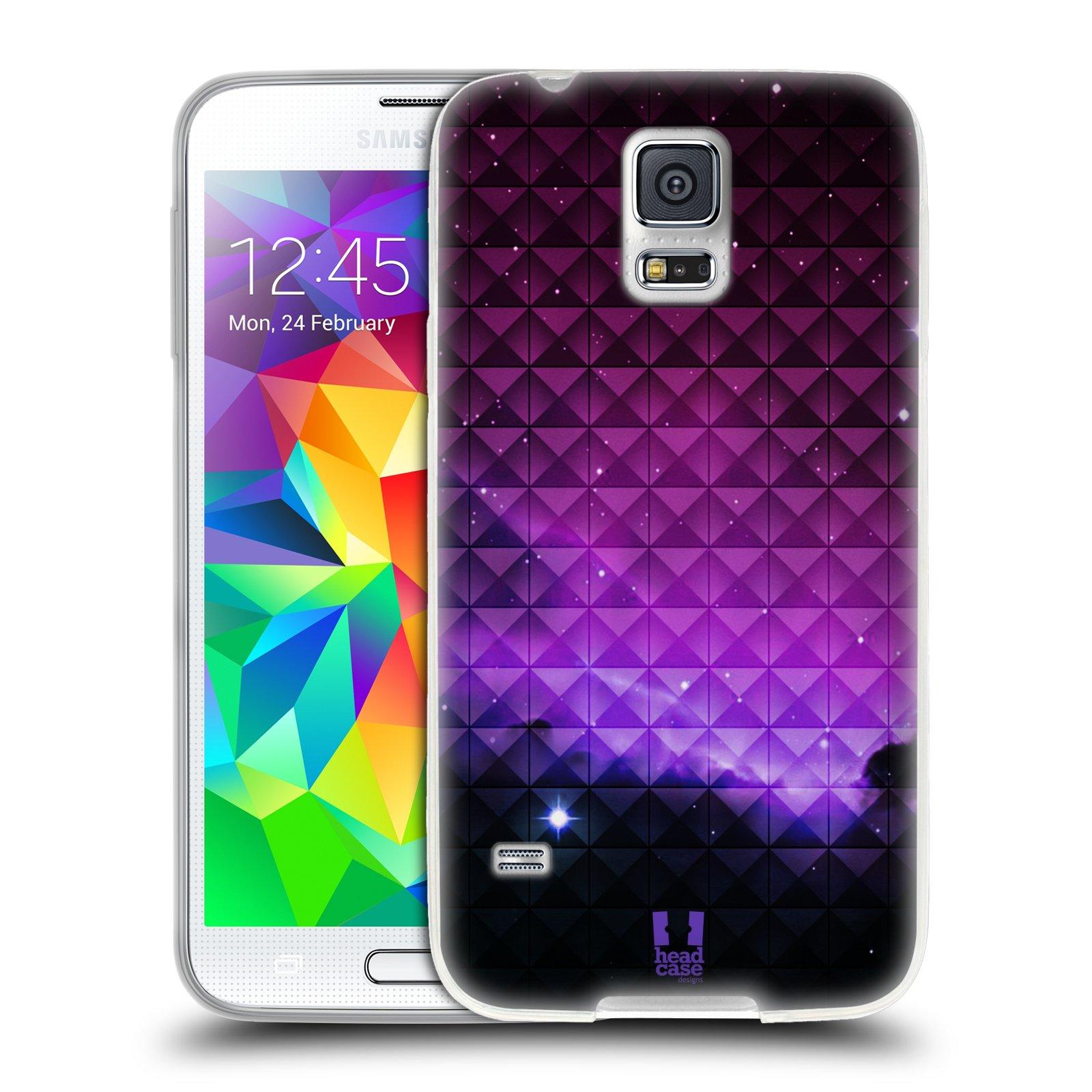 Silikonové pouzdro na mobil Samsung Galaxy S5 HEAD CASE PURPLE HAZE (Silikonový kryt či obal na mobilní telefon Samsung Galaxy S5 SM-G900F)
