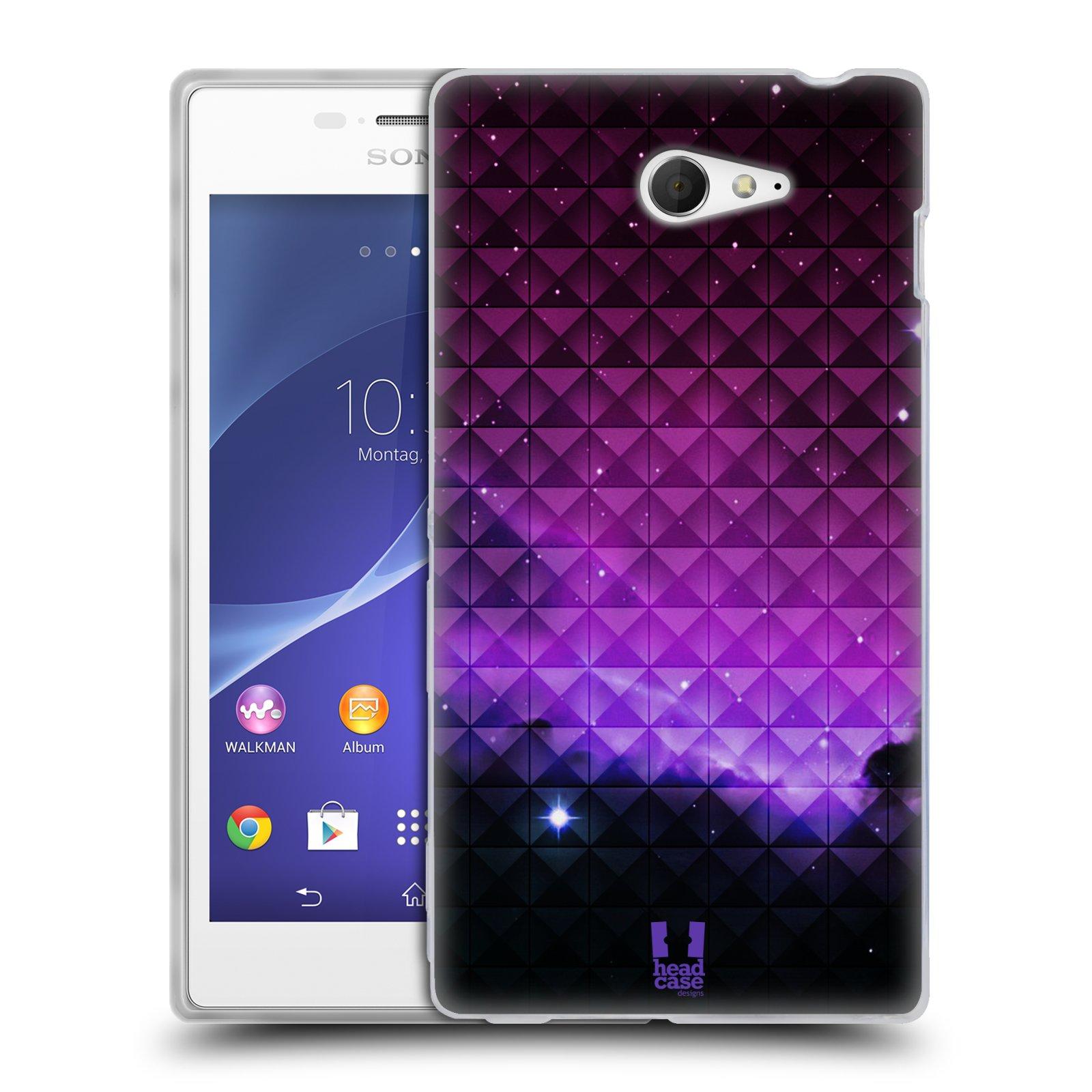 Silikonové pouzdro na mobil Sony Xperia M2 D2303 HEAD CASE PURPLE HAZE (Silikonový Kryt či obal na mobilní telefon Sony Xperia M2)