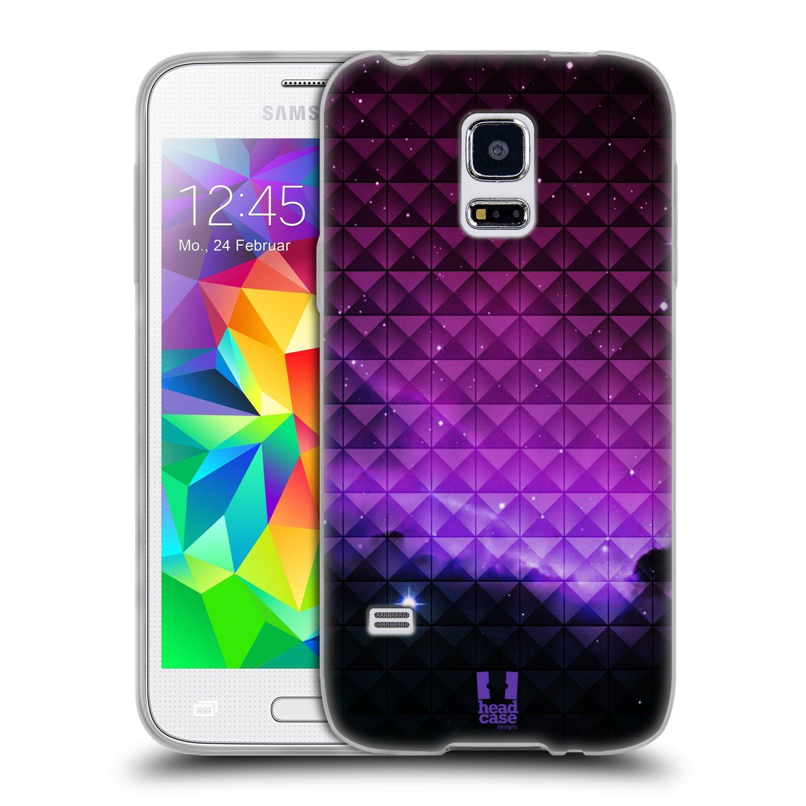 Silikonové pouzdro na mobil Samsung Galaxy S5 Mini HEAD CASE PURPLE HAZE (Silikonový kryt či obal na mobilní telefon Samsung Galaxy S5 Mini SM-G800F)