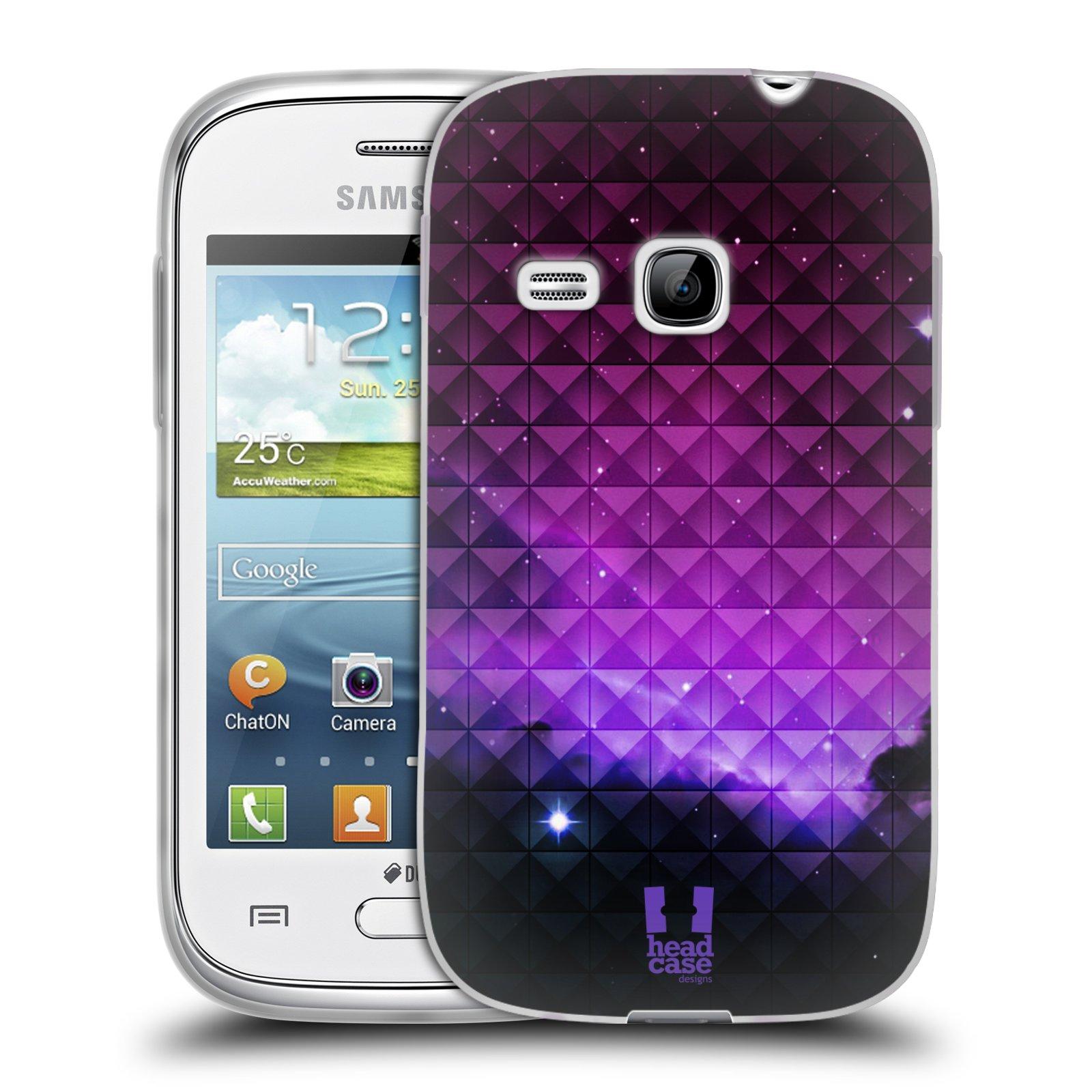 Silikonové pouzdro na mobil Samsung Galaxy Young HEAD CASE PURPLE HAZE (Silikonový kryt či obal na mobilní telefon Samsung Galaxy Young GT-S6310)