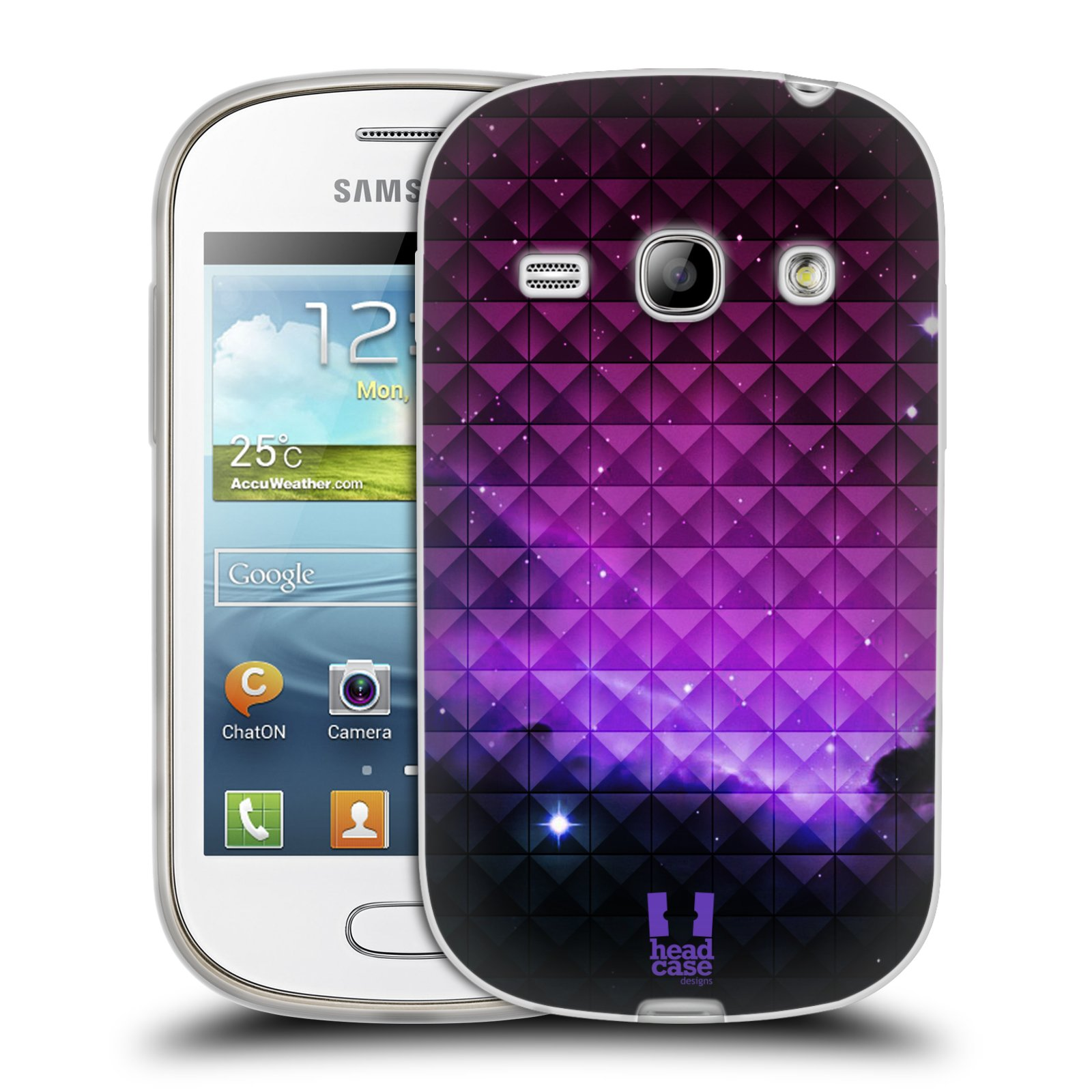 Silikonové pouzdro na mobil Samsung Galaxy Fame HEAD CASE PURPLE HAZE (Silikonový kryt či obal na mobilní telefon Samsung Galaxy Fame GT-S6810)