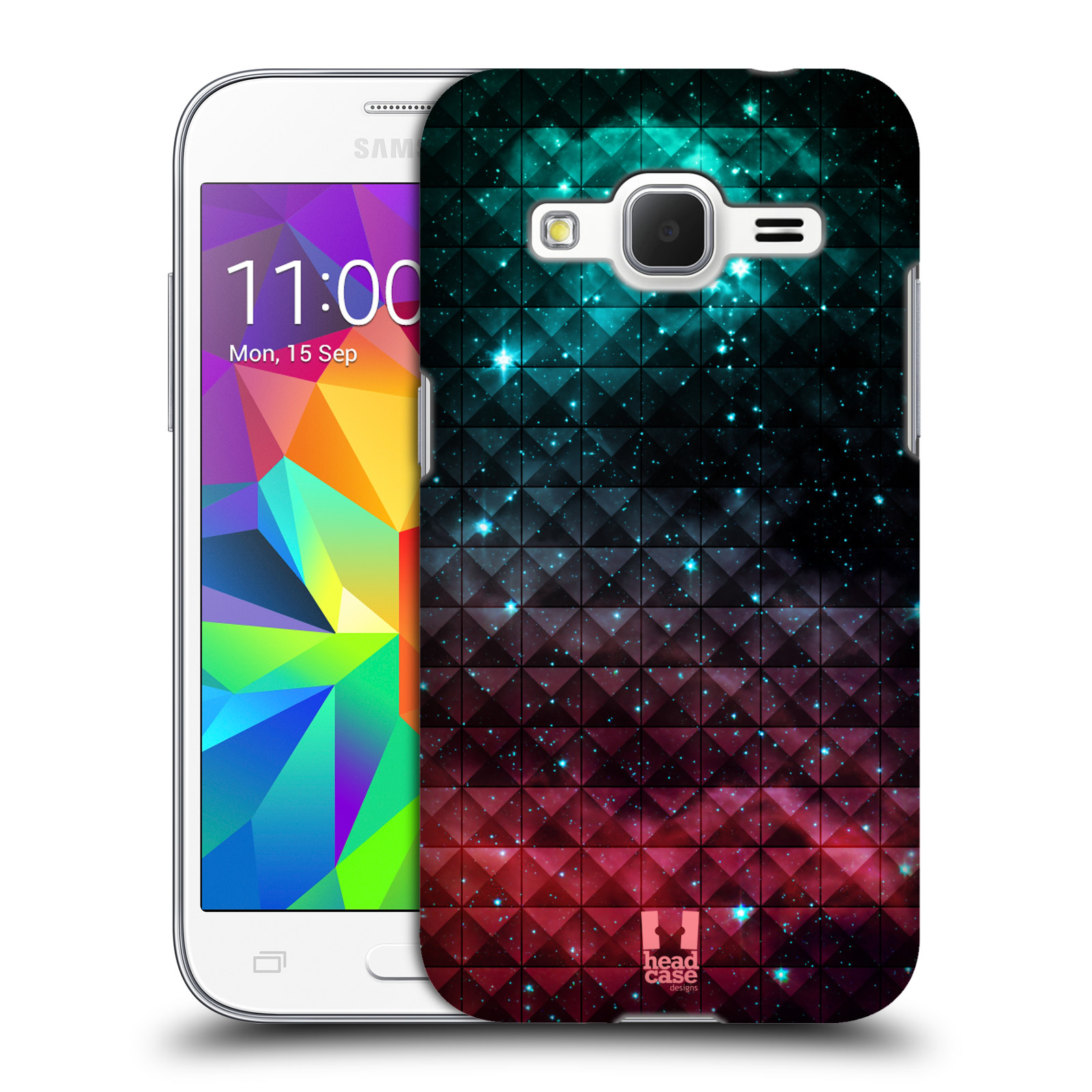 Plastové pouzdro na mobil Samsung Galaxy Core Prime VE HEAD CASE OMBRE SPARKLE (Kryt či obal na mobilní telefon Samsung Galaxy Core Prime LTE VE SM-G361F)
