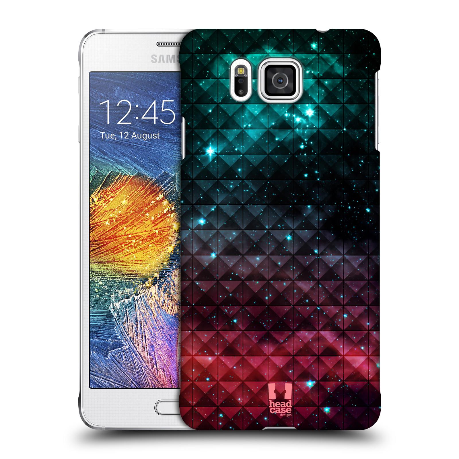 Plastové pouzdro na mobil Samsung Galaxy Alpha HEAD CASE OMBRE SPARKLE (Kryt či obal na mobilní telefon Samsung Galaxy Alpha SM-G850)