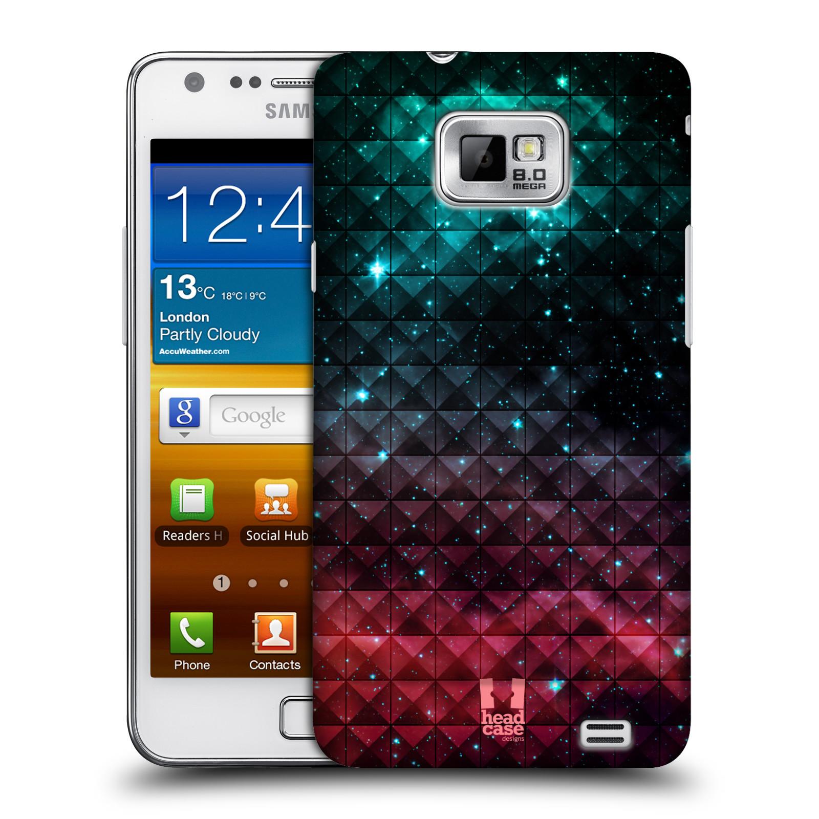 Plastové pouzdro na mobil Samsung Galaxy S II HEAD CASE OMBRE SPARKLE (Kryt či obal na mobilní telefon Samsung Galaxy S II GT-i9100)