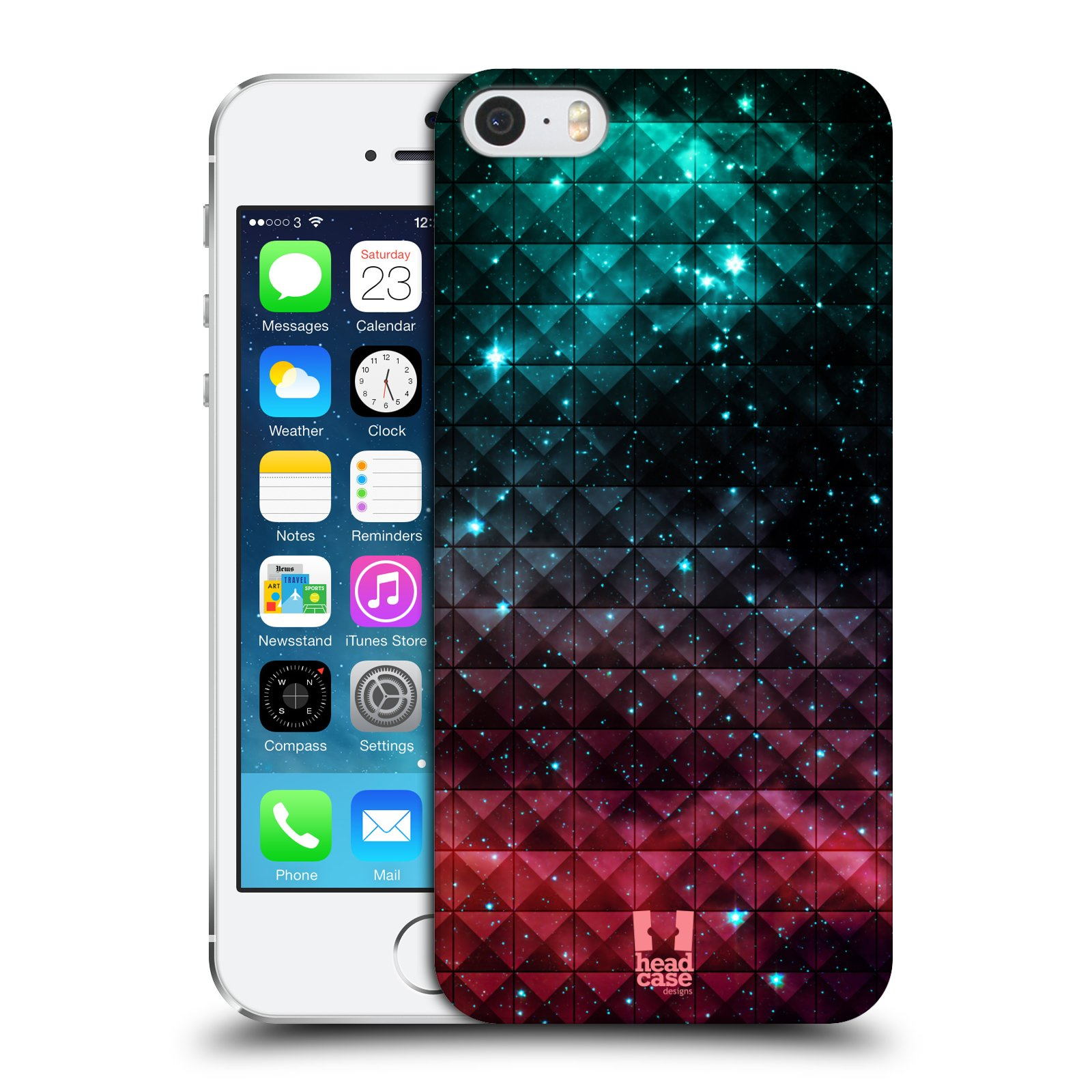 Plastové pouzdro na mobil Apple iPhone SE, 5 a 5S HEAD CASE OMBRE SPARKLE
