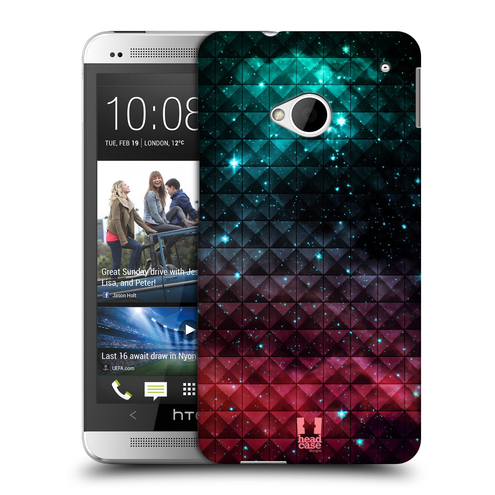Plastové pouzdro na mobil HTC ONE M7 HEAD CASE OMBRE SPARKLE (Kryt či obal na mobilní telefon HTC ONE M7)