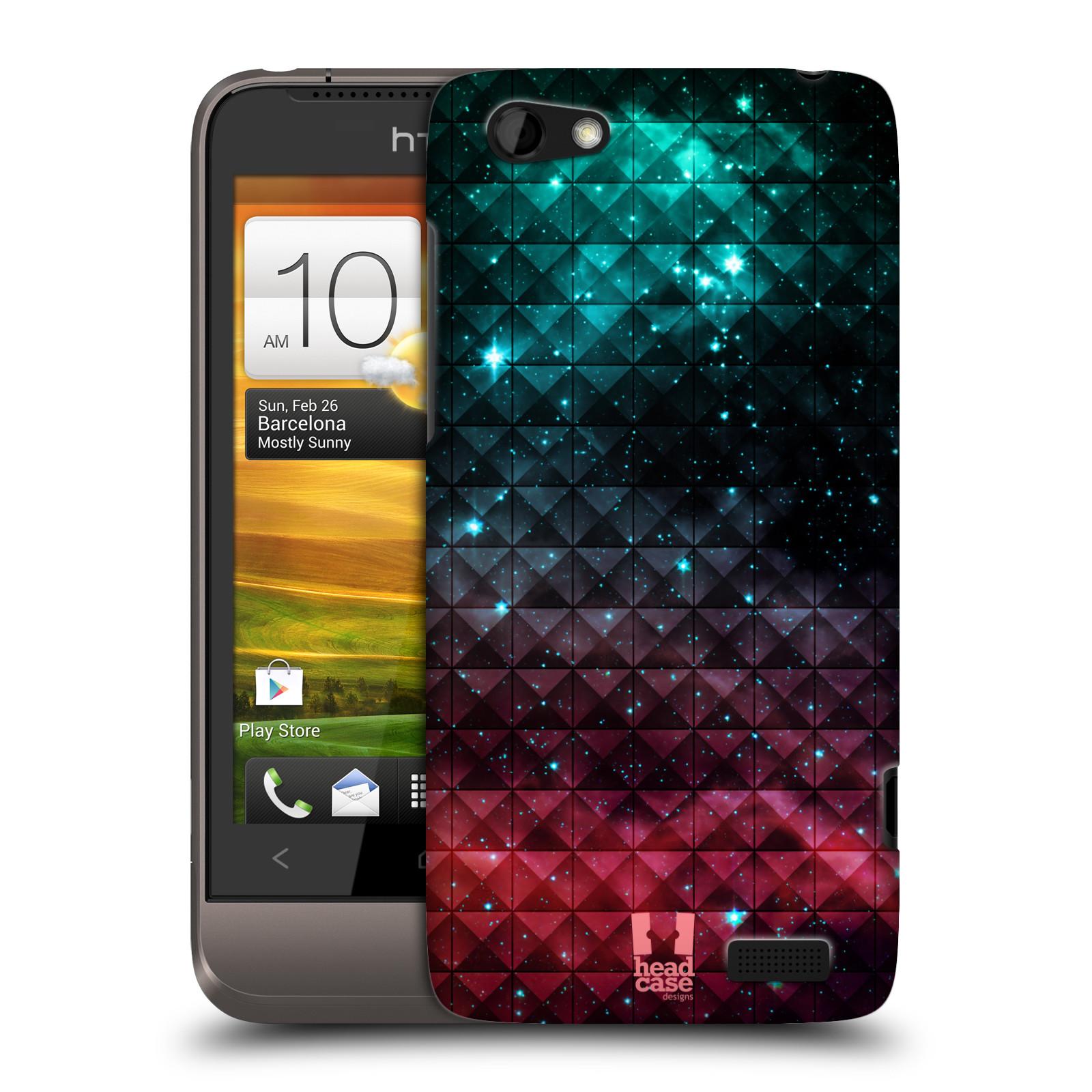 Plastové pouzdro na mobil HTC ONE V HEAD CASE OMBRE SPARKLE (Kryt či obal na mobilní telefon HTC ONE V)