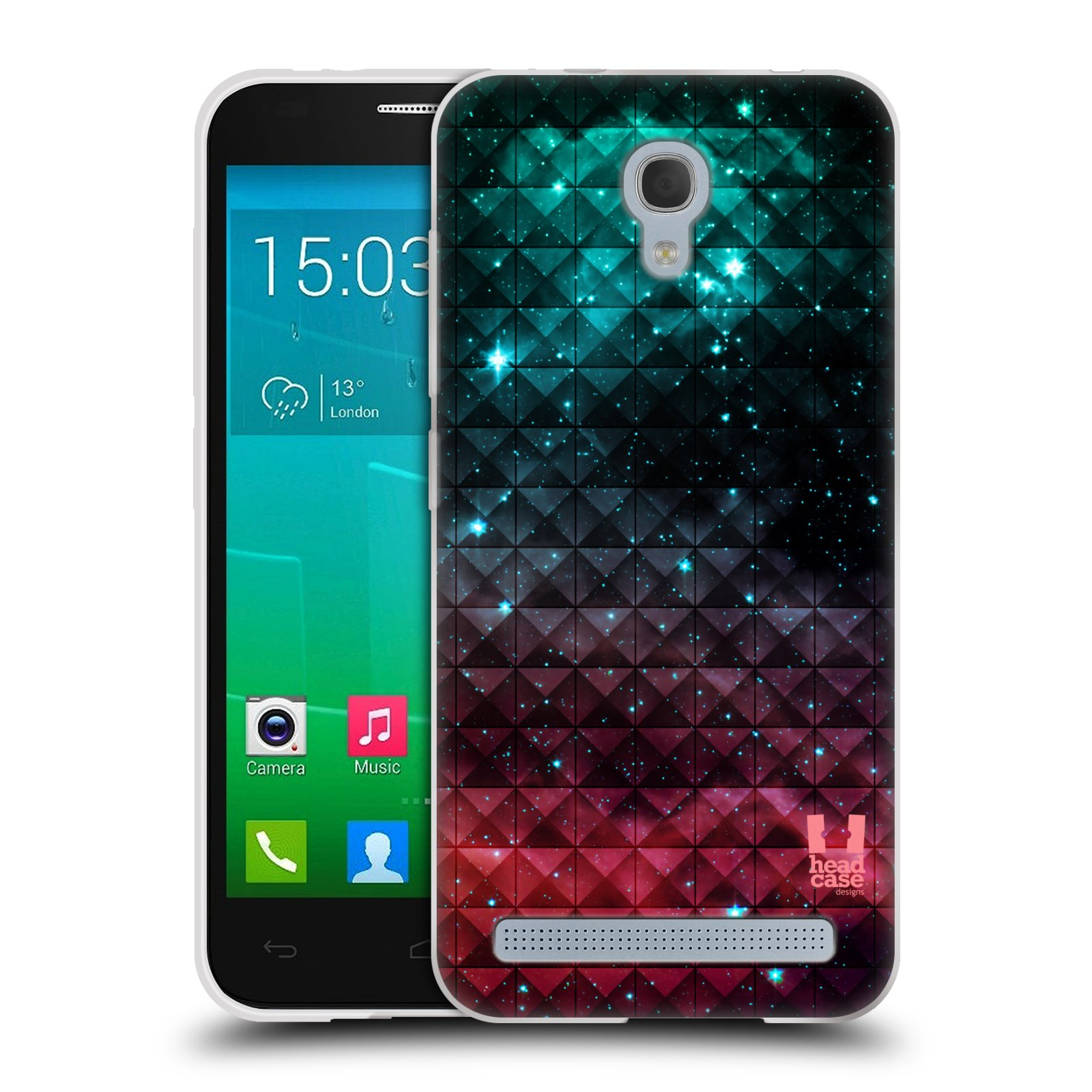 Silikonové pouzdro na mobil Alcatel One Touch Idol 2 Mini S 6036Y HEAD CASE OMBRE SPARKLE