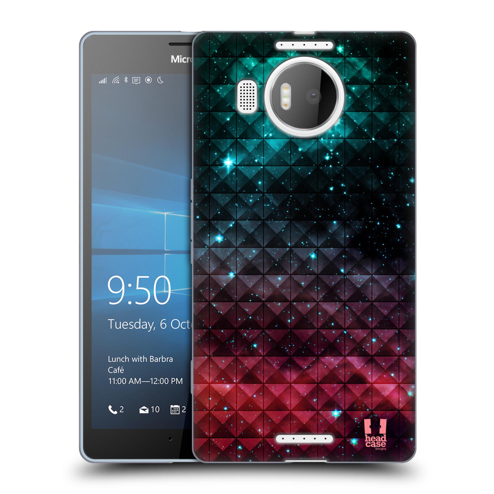 Silikonové pouzdro na mobil Microsoft Lumia 950 XL HEAD CASE OMBRE SPARKLE