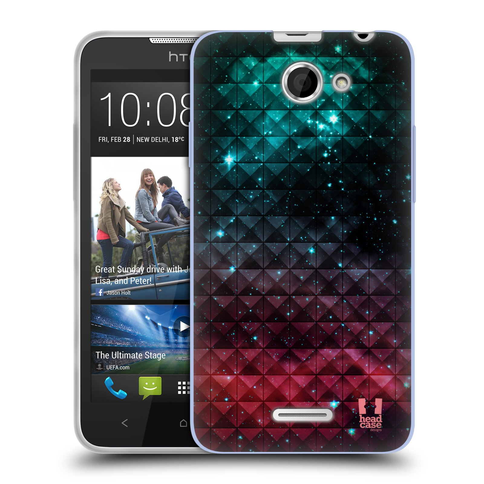 Silikonové pouzdro na mobil HTC Desire 516 HEAD CASE OMBRE SPARKLE (Silikonový kryt či obal na mobilní telefon HTC Desire 516 Dual SIM)