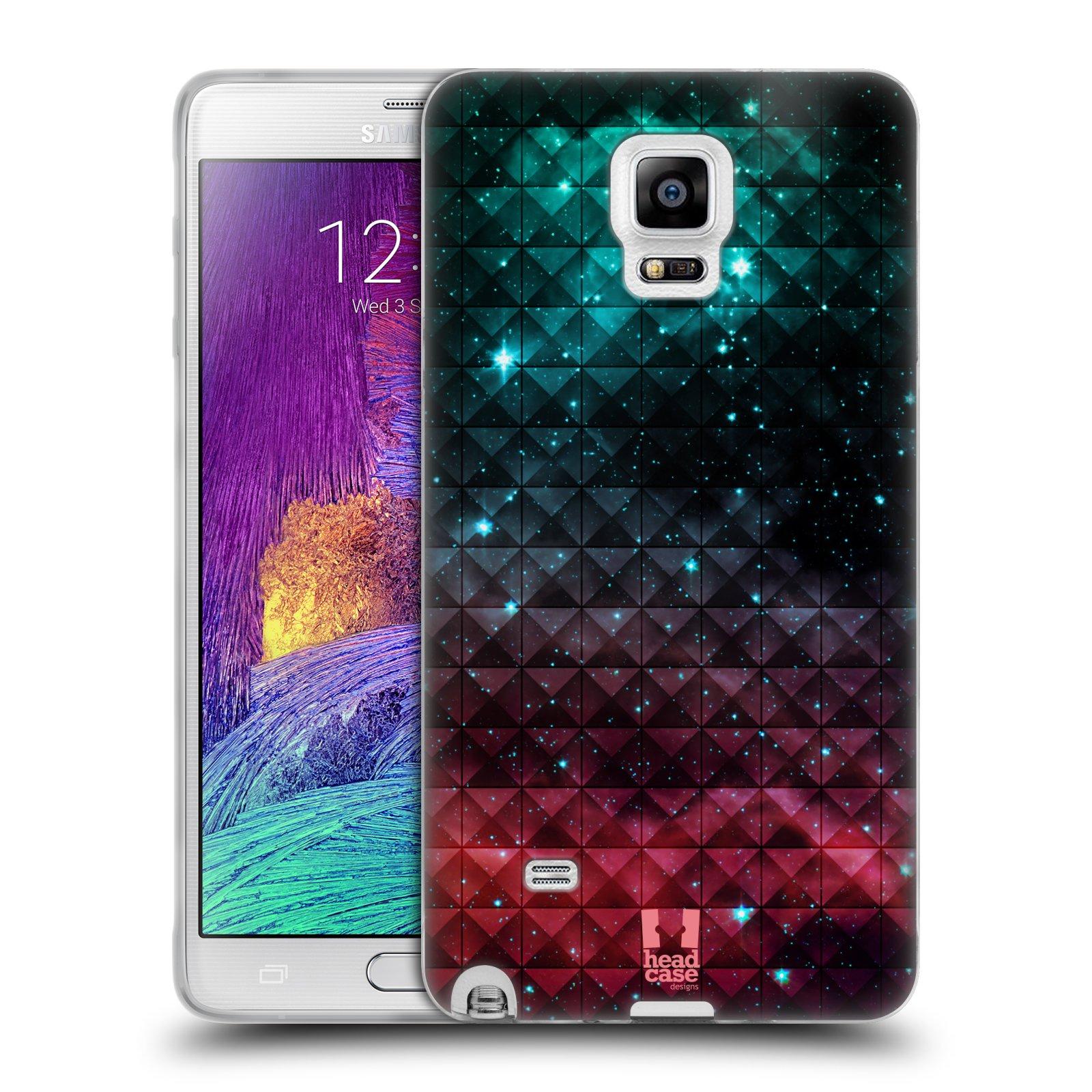 Silikonové pouzdro na mobil Samsung Galaxy Note 4 HEAD CASE OMBRE SPARKLE (Silikonový kryt či obal na mobilní telefon Samsung Galaxy Note 4 SM-N910F)