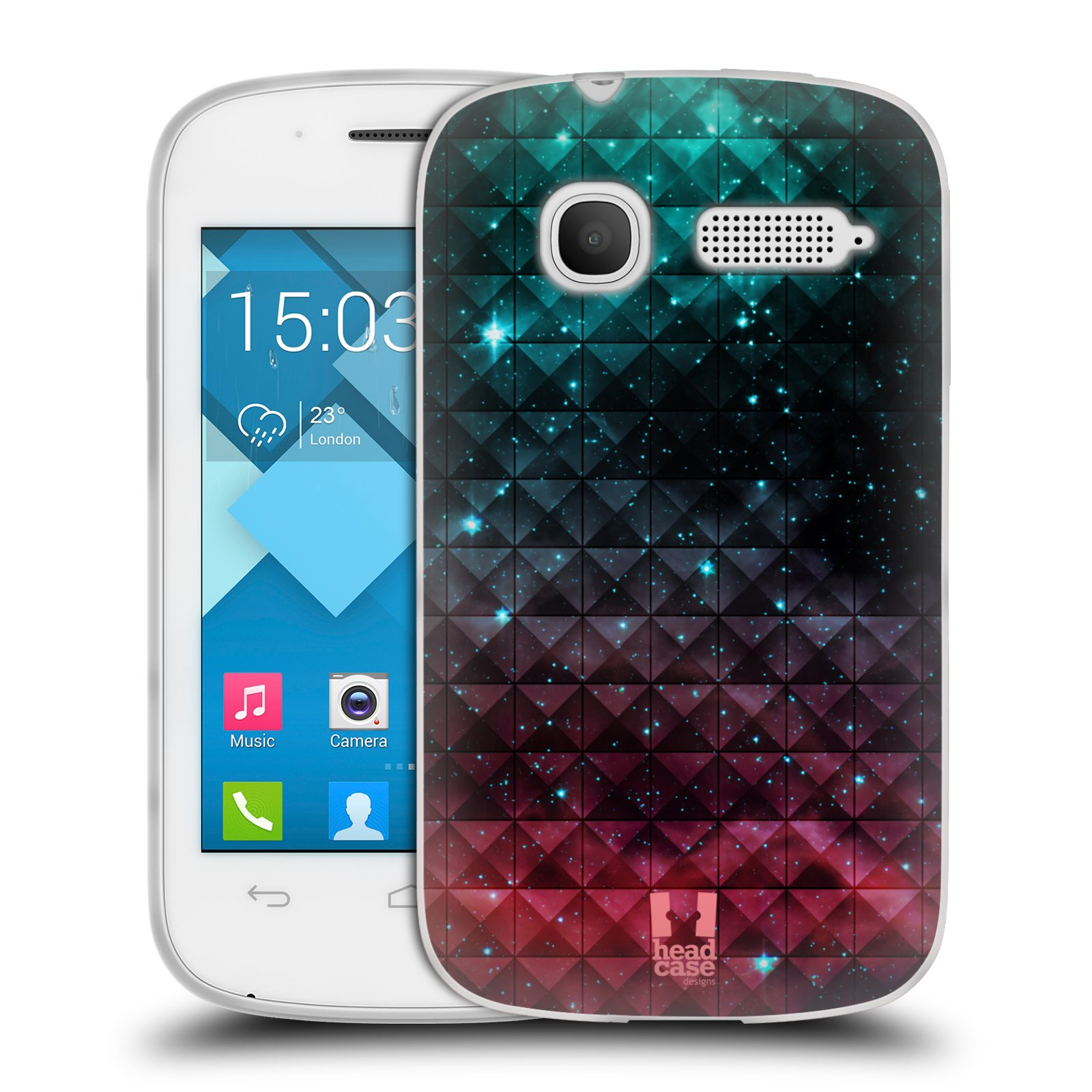 Silikonové pouzdro na mobil Alcatel One Touch Pop C1 HEAD CASE OMBRE SPARKLE (Silikonový kryt či obal na mobilní telefon Alcatel OT-4015D POP C1)