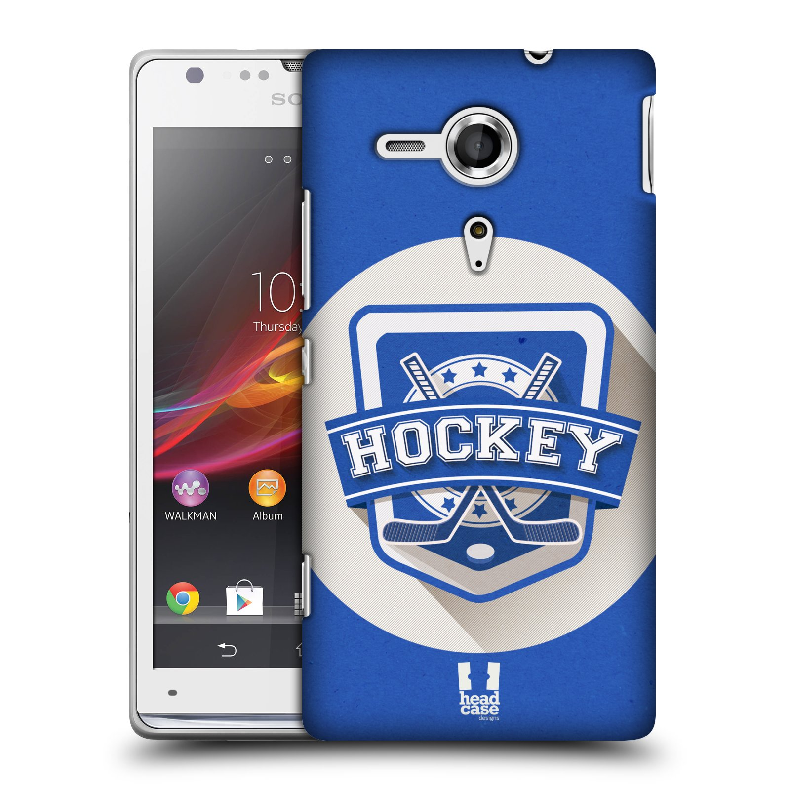 Plastové pouzdro na mobil Sony Xperia SP C5303 HEAD CASE HOKEJ (Kryt či obal na mobilní telefon Sony Xperia SP )